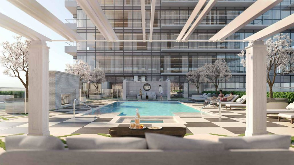 rooftop pool at notting hill condos