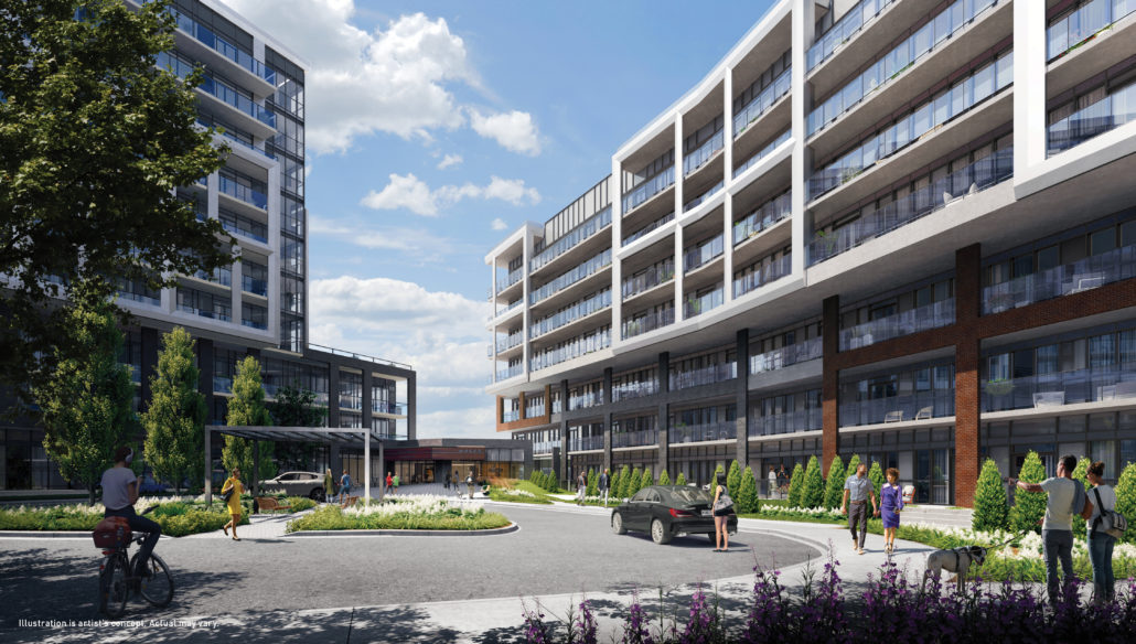Saturday in Downsview Park Phase 2 Courtyard