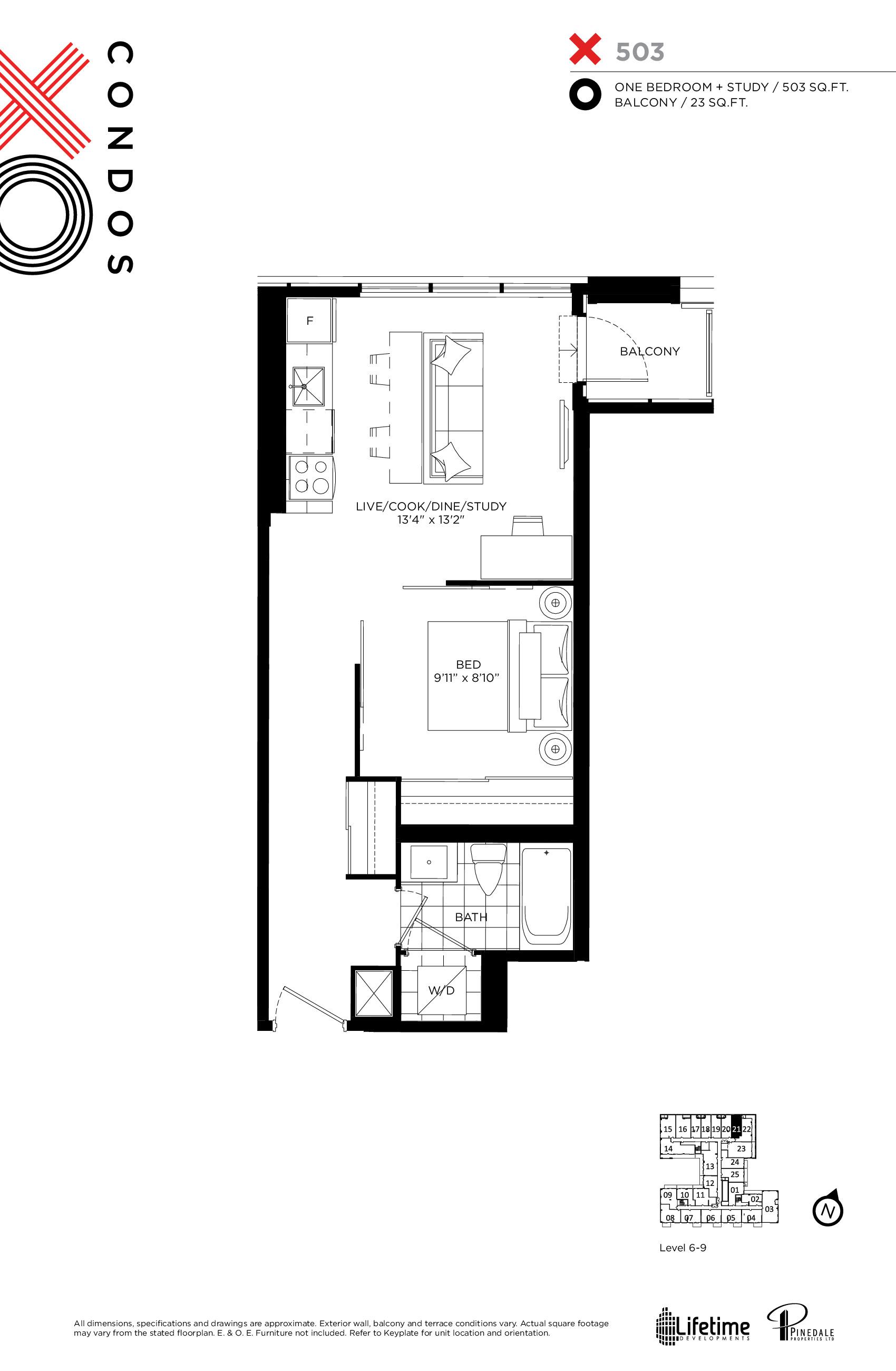 X503 Floor Plan at XO Condos - 503 sq.ft