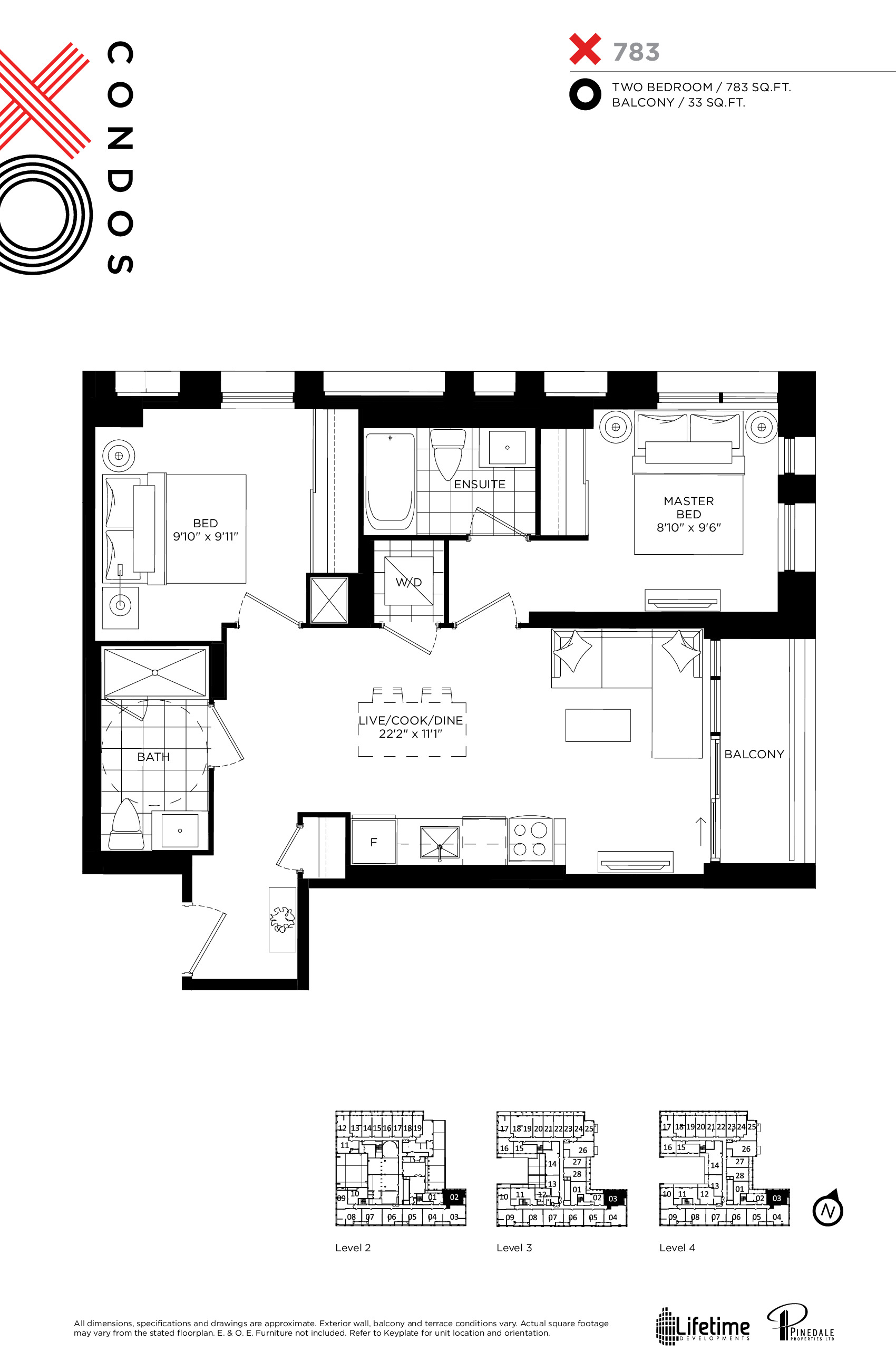 X783 Floor Plan at XO Condos - 783 sq.ft