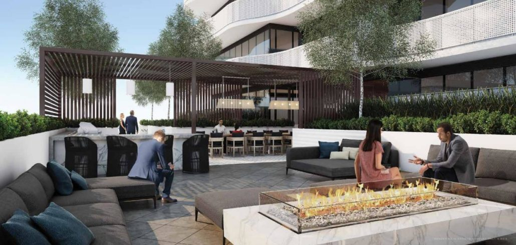 Azura Condos Outdoor Lounge