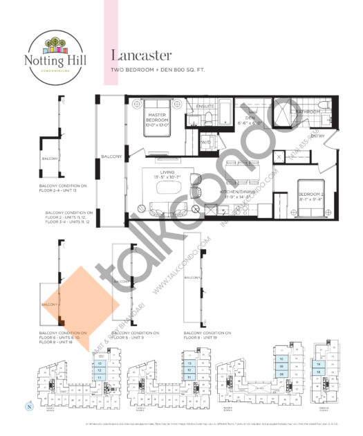 Notting Hill Condos Condos Floor Plans