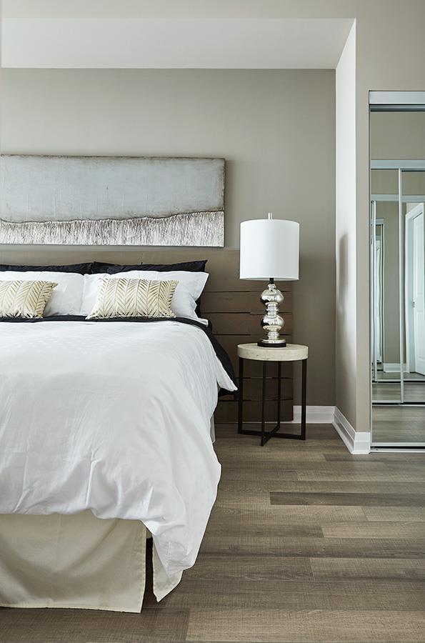 Perla Towers Condos Model Bedroom