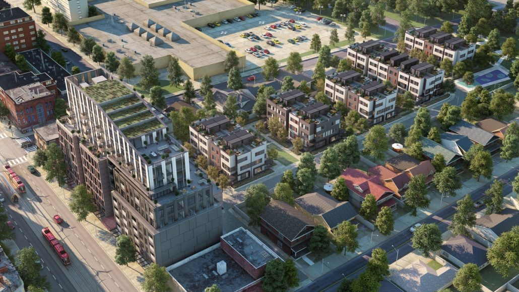Reunion Crossing Condos & Urban Towns Aerial