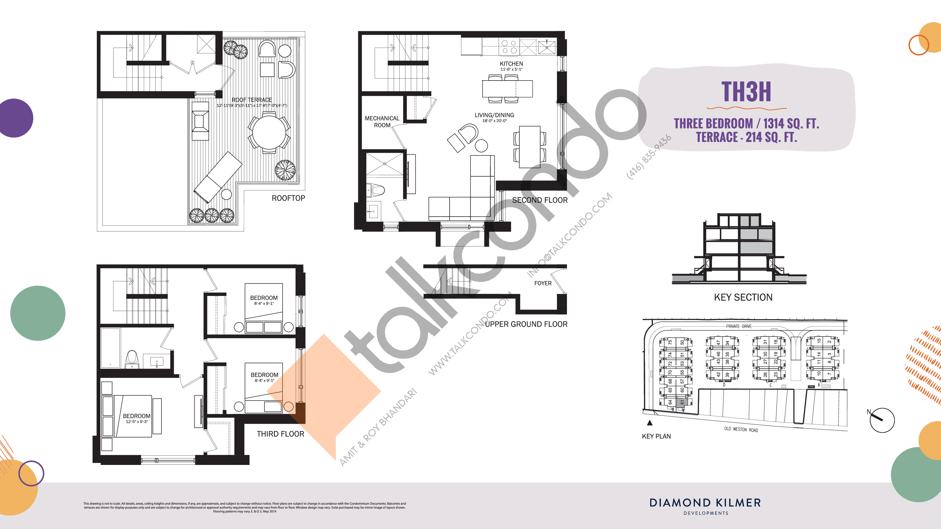 TH3H Floor Plan at Reunion Crossing Condos & Urban Towns - 1314 sq.ft
