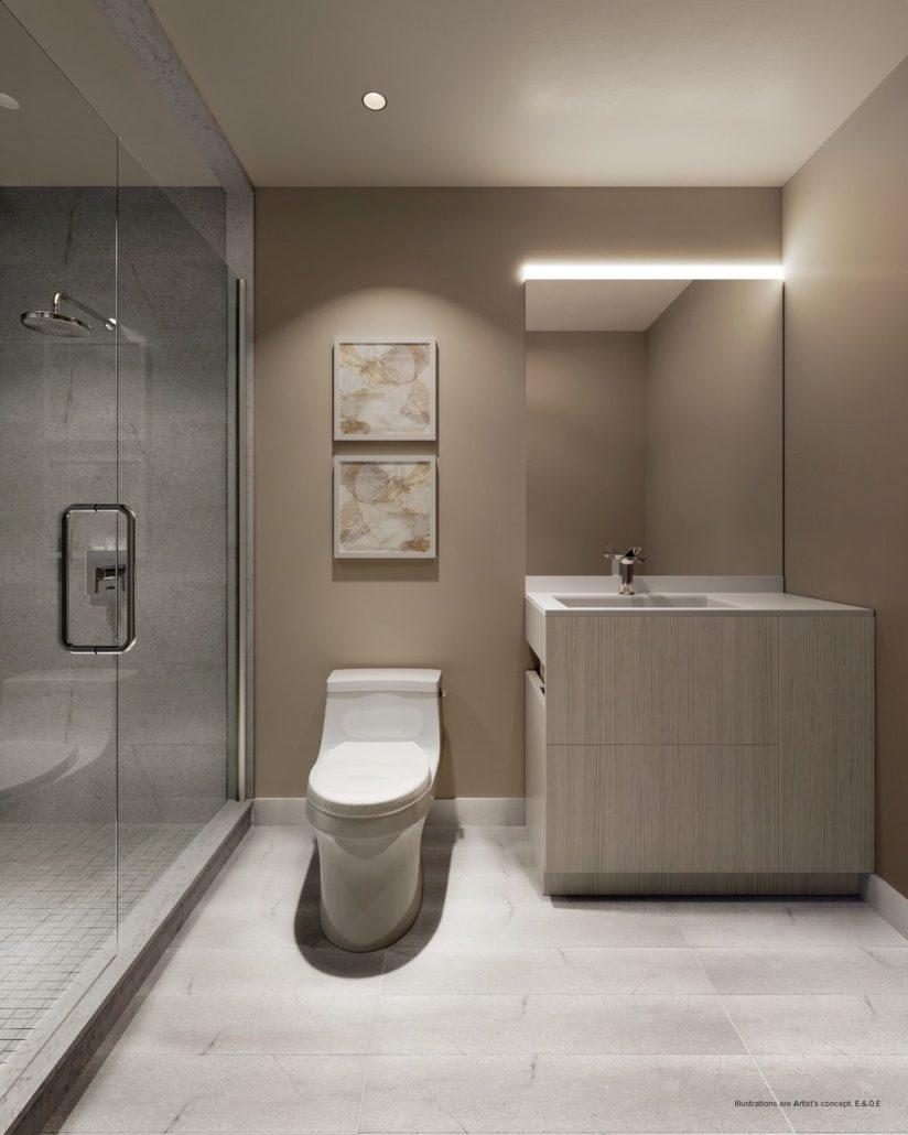 bathroom at st clair village condos at 900 st clair west