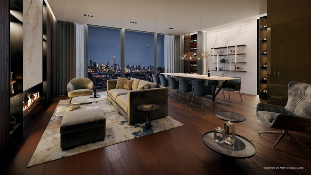 lounge at st clair village condos at 900 st clair west