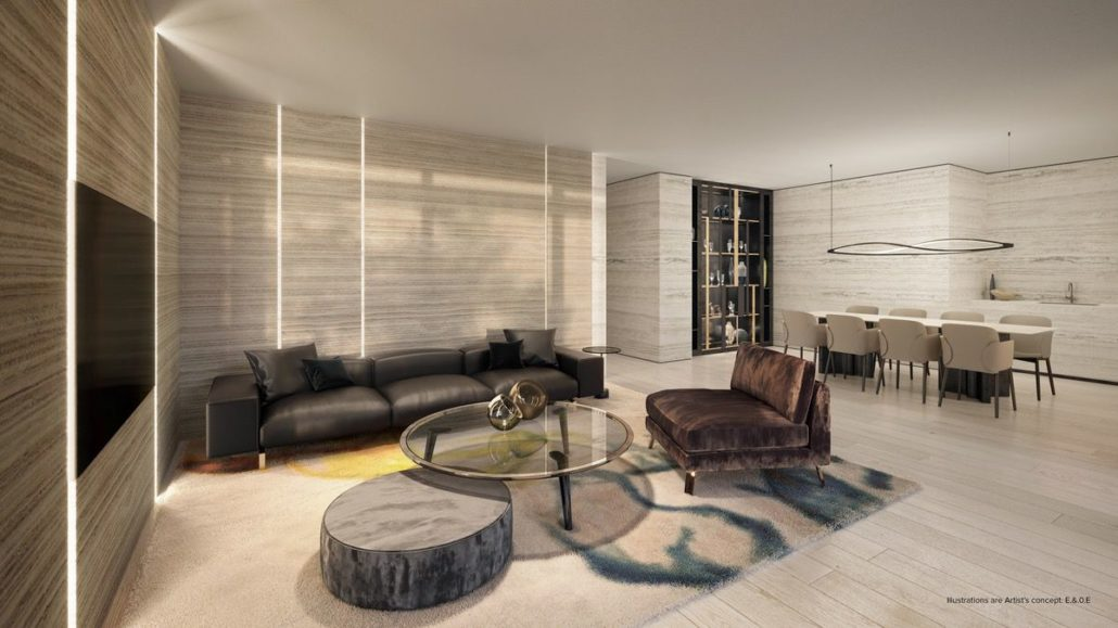 party room rendering at st clair village condos at 900 st clair west