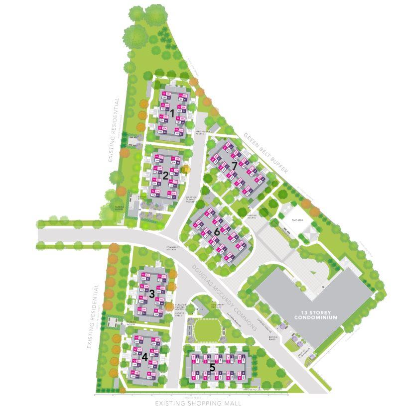 Stride Condos & Towns Site Plan