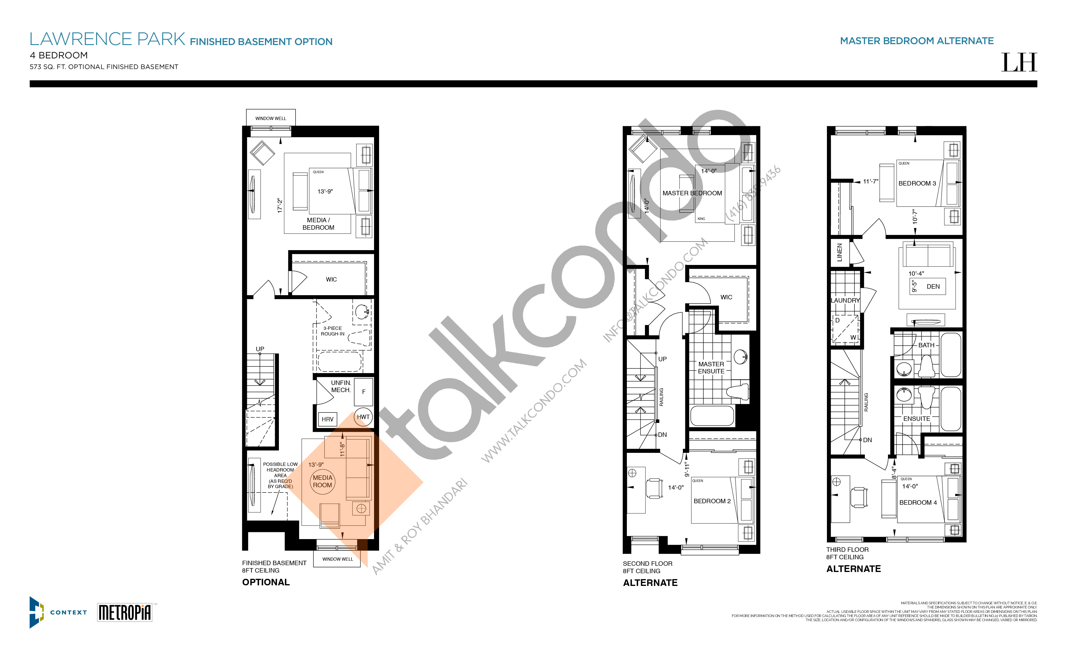 Lawrence Park (Finished Basement Option)) Floor Plan at The New Lawrence Heights Phase 2 Condos - 2579 sq.ft