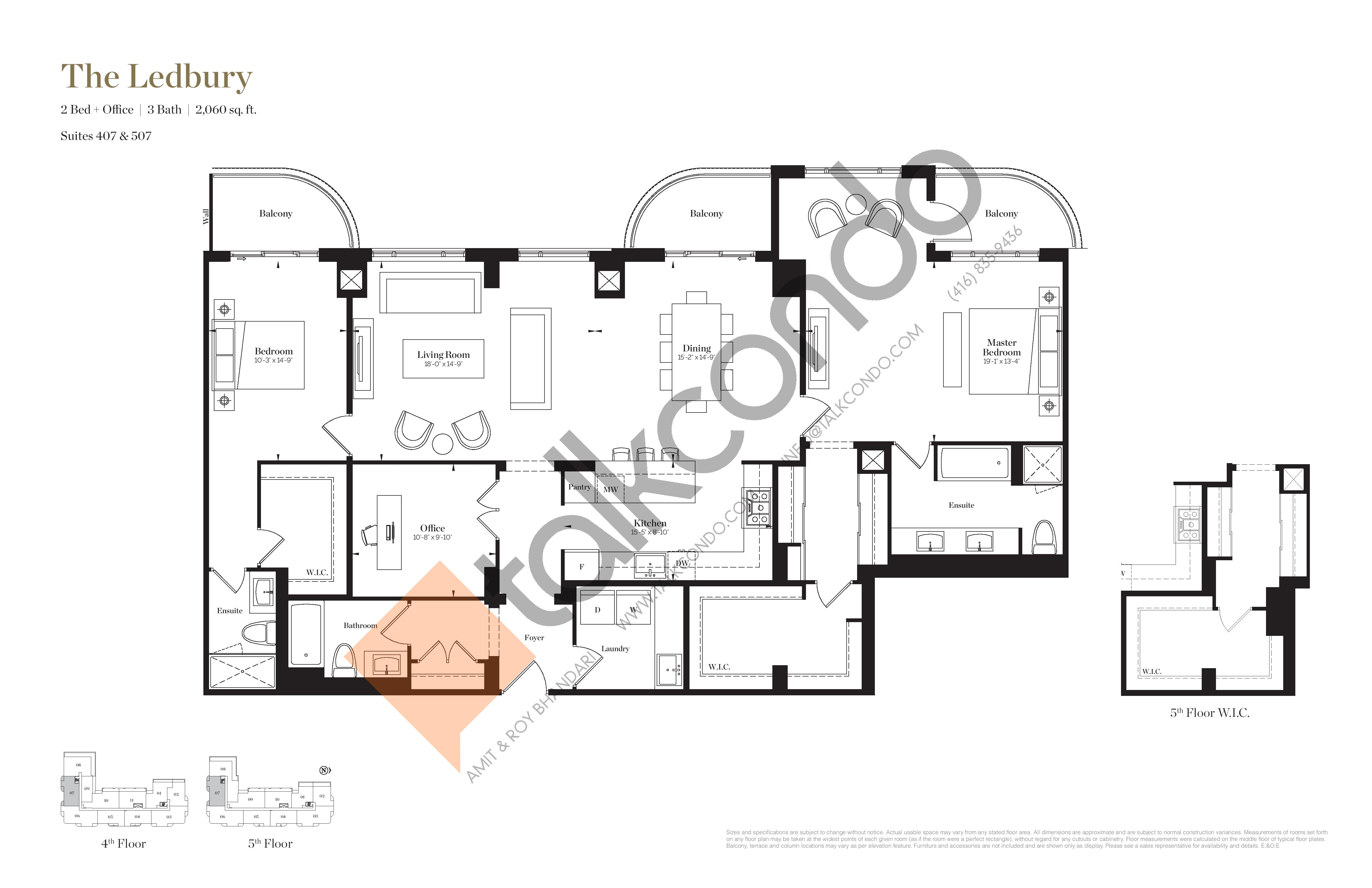 The Ledbury Floor Plan at Empire Maven Condos - 2060 sq.ft