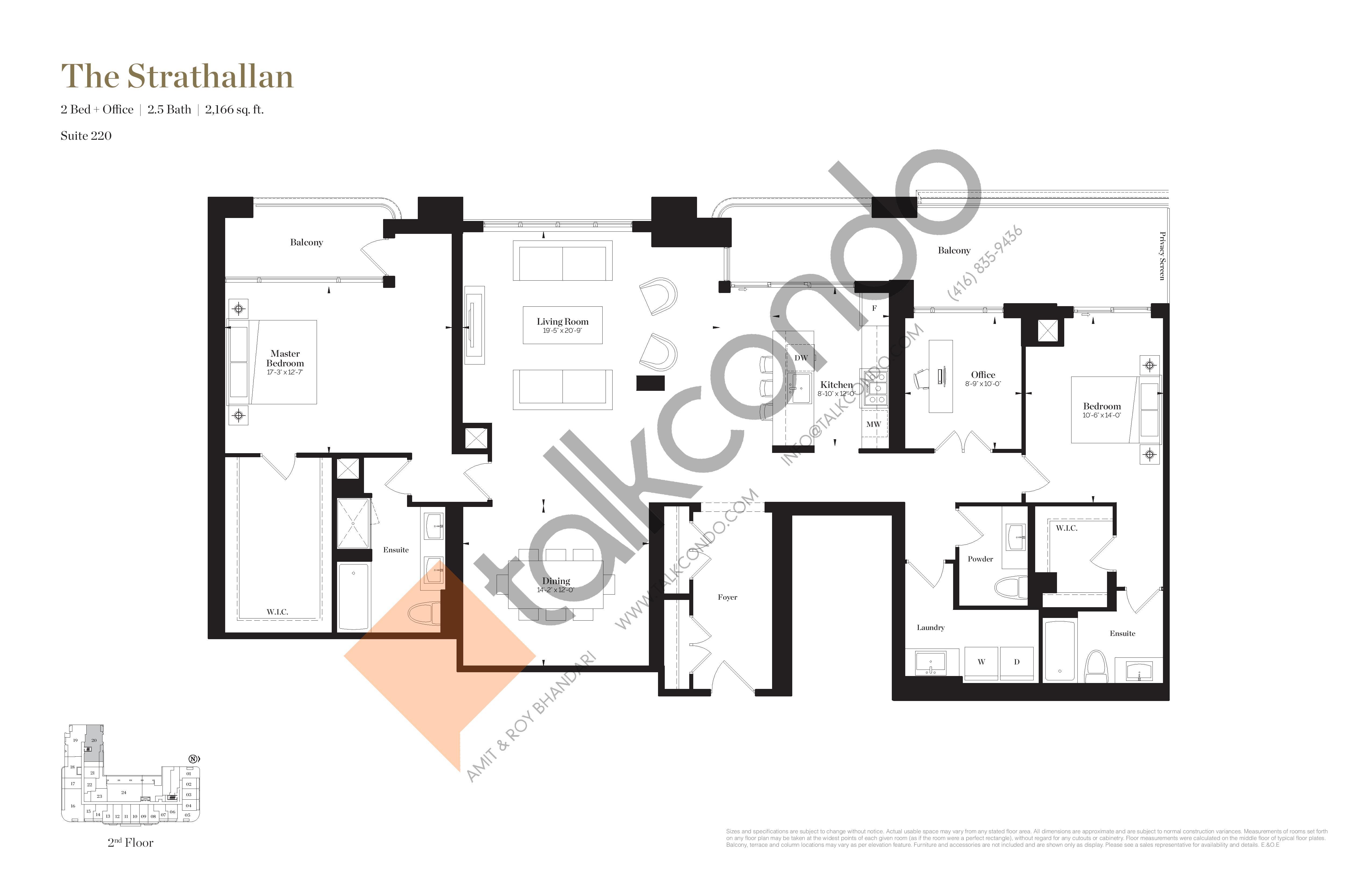 The Strathallan Floor Plan at Empire Maven Condos - 2166 sq.ft