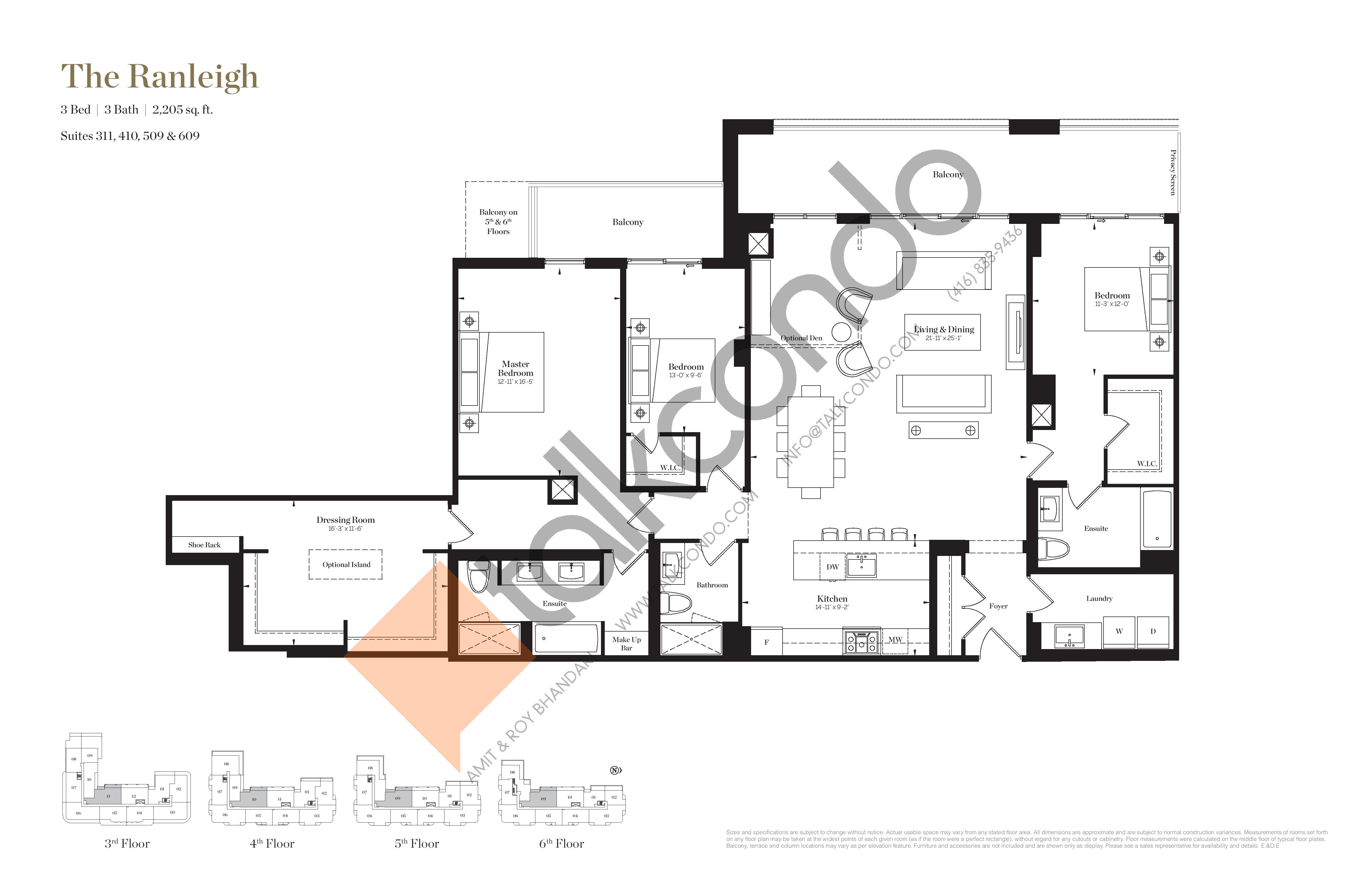 The Ranleigh Floor Plan at Empire Maven Condos - 2205 sq.ft