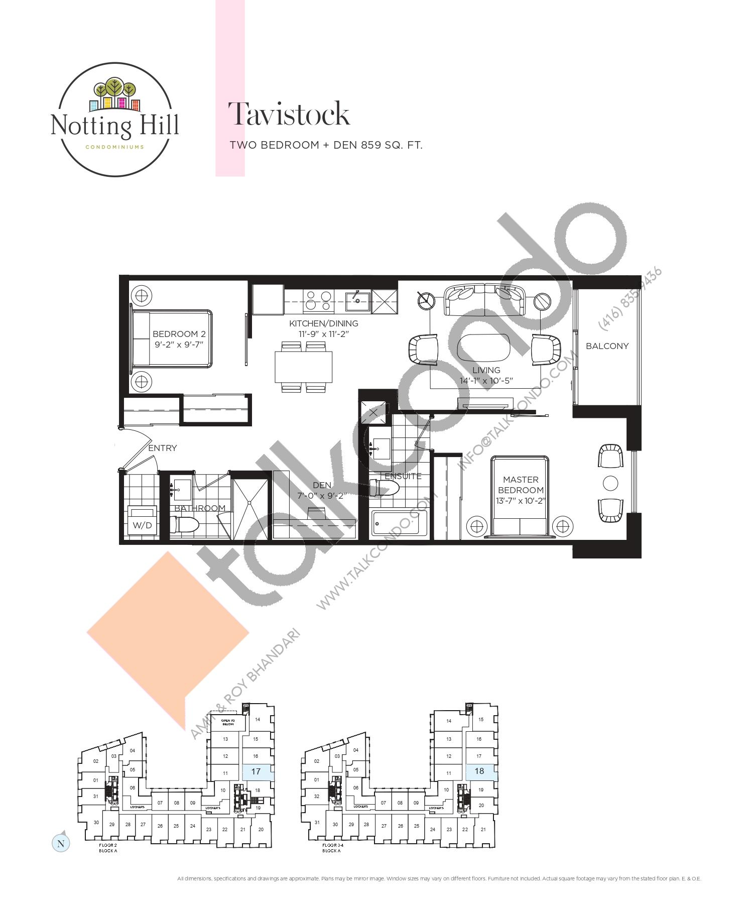 Tavistock Floor Plan at Notting Hill Phase 2 Condos - 859 sq.ft