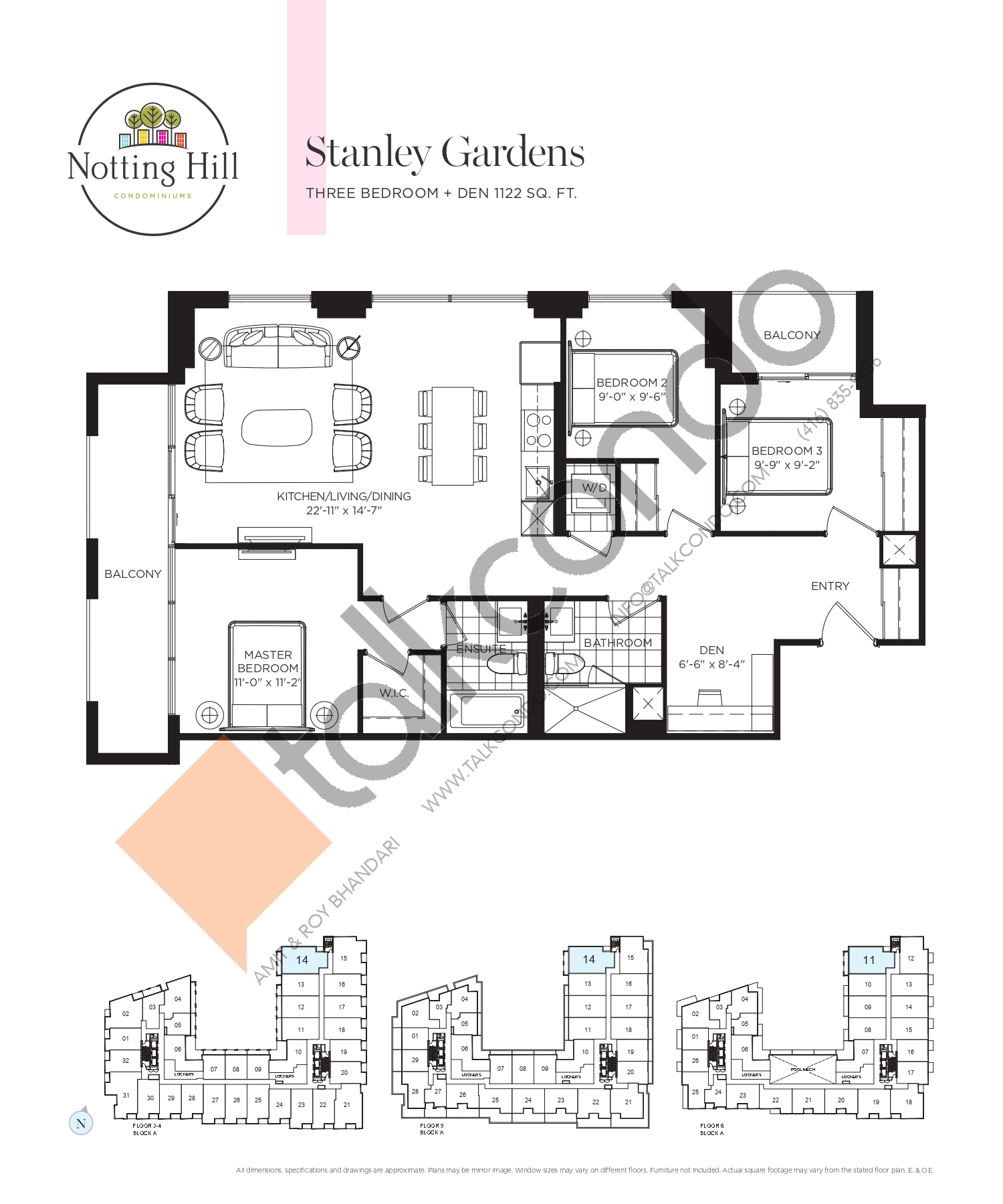 Stanley Gardens Floor Plan at Notting Hill Phase 2 Condos - 1122 sq.ft