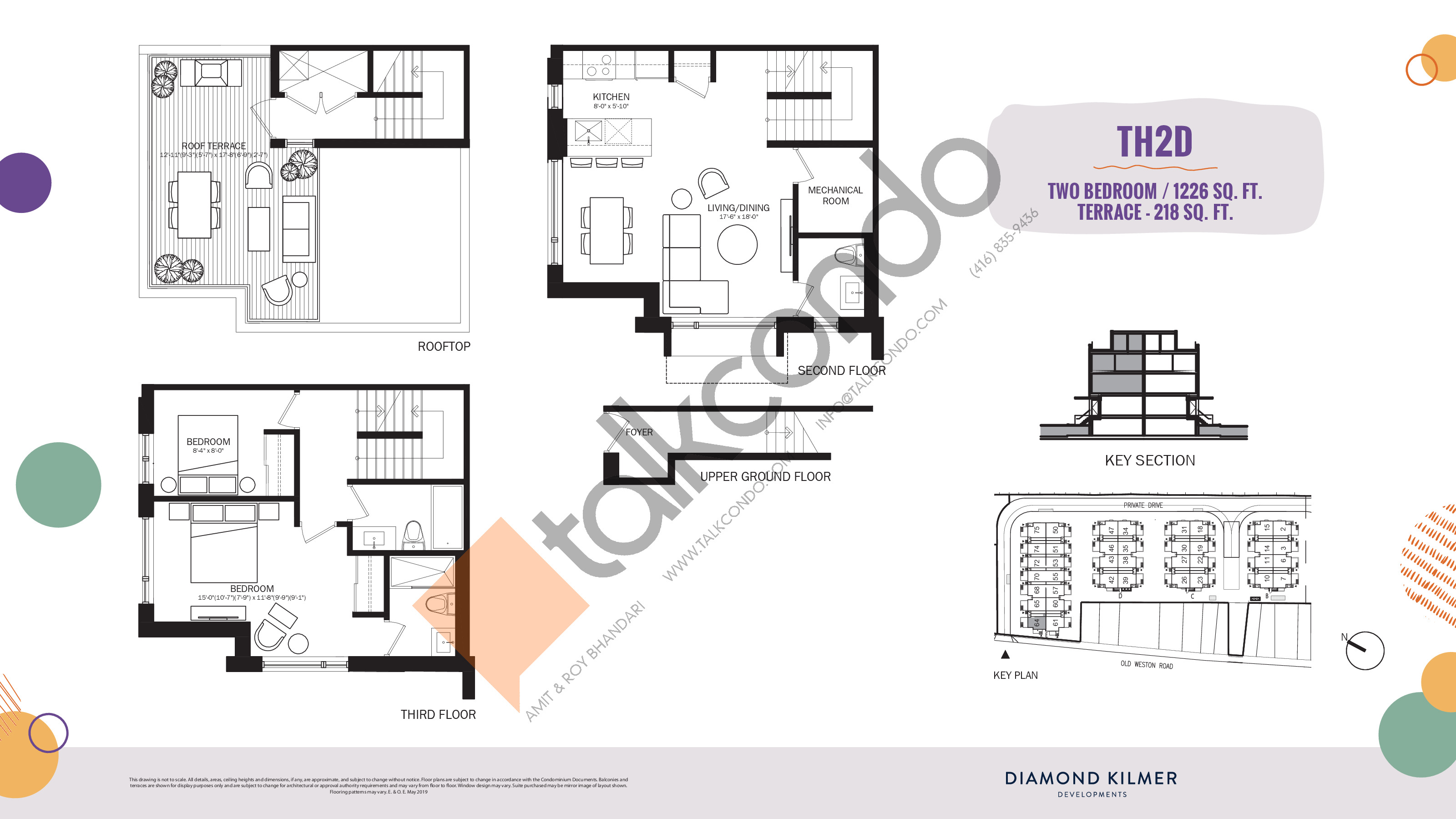 TH2D Floor Plan at Reunion Crossing Condos & Urban Towns - 1226 sq.ft