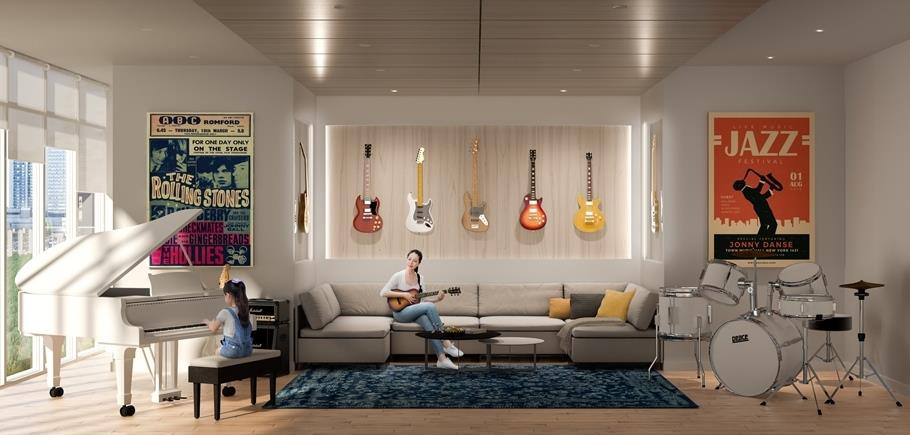 Sugar Wharf Condos West Tower Music Room