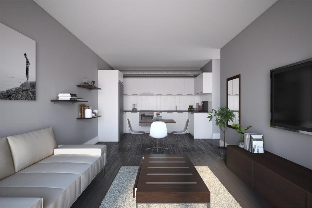 Frontenac Condos Living Room