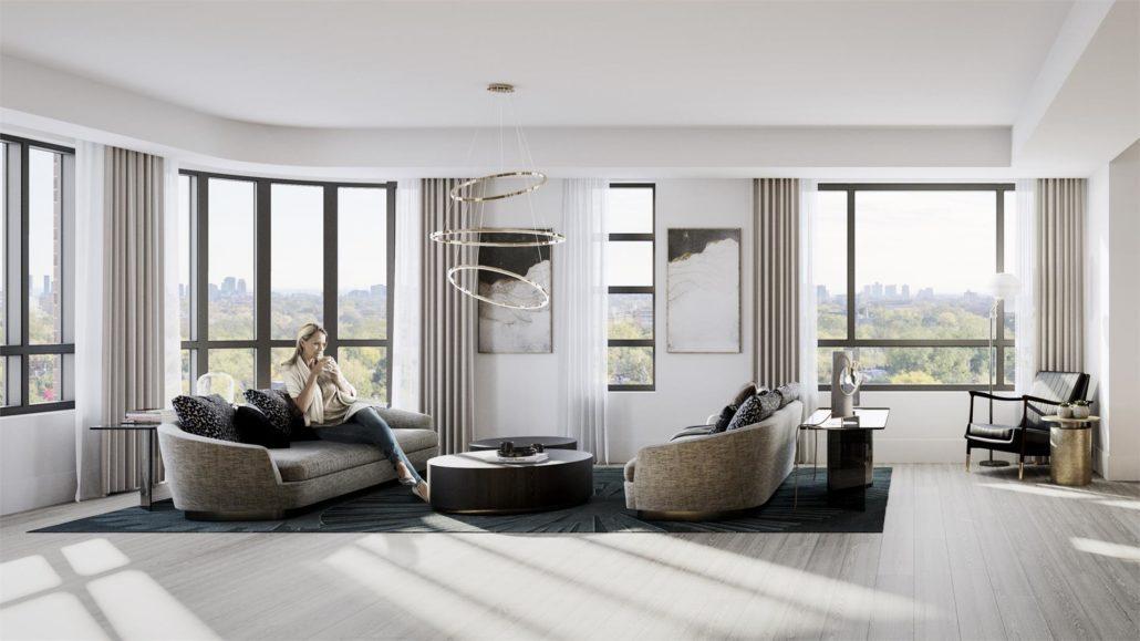 Empire Maven Condos Living Room