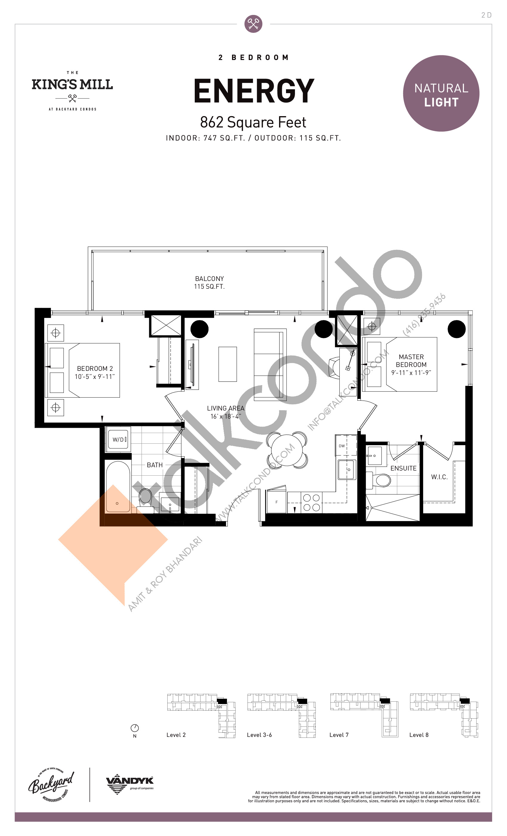 Energy Floor Plan at The King's Mill Condos - 747 sq.ft