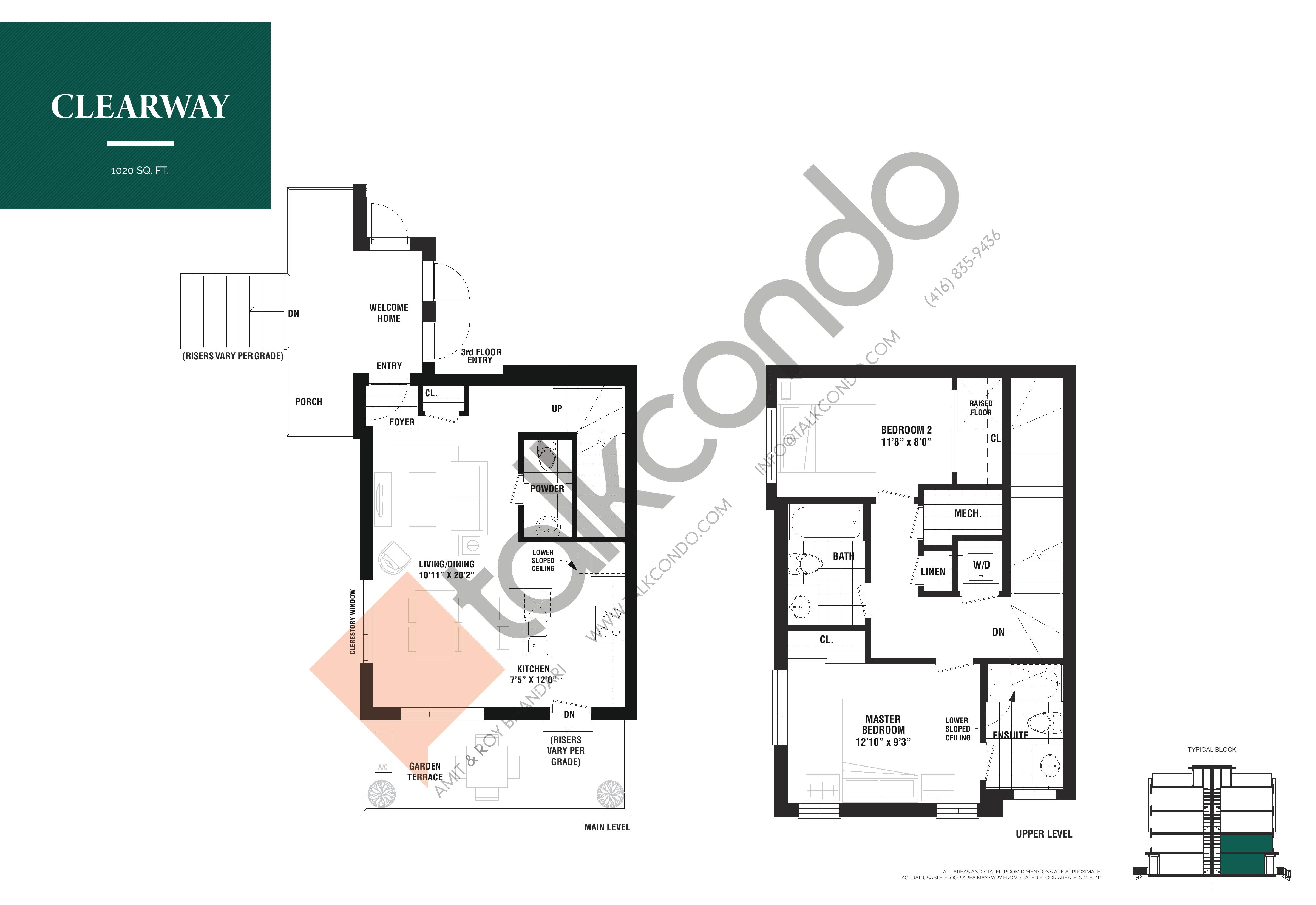 Clearway Floor Plan at The Way Urban Towns - 1020 sq.ft