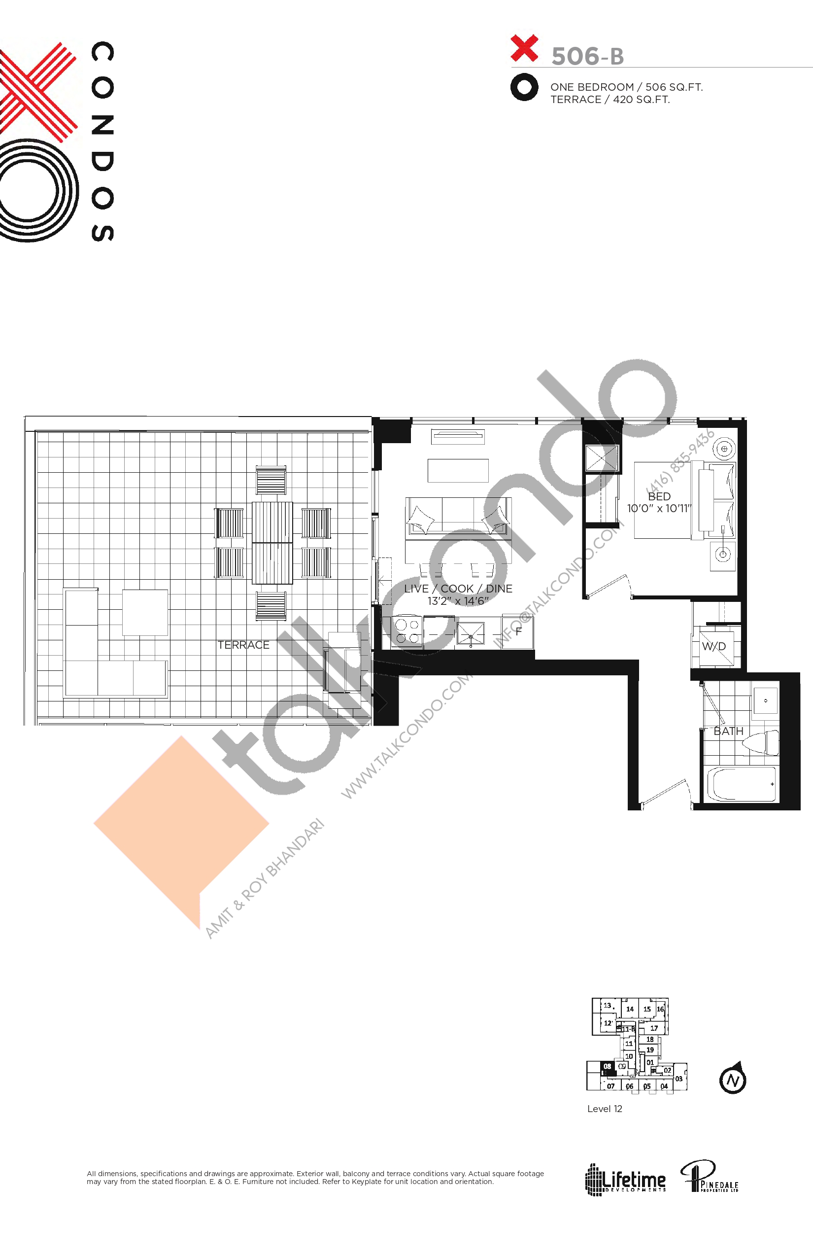 X506-B Floor Plan at XO Condos - 506 sq.ft