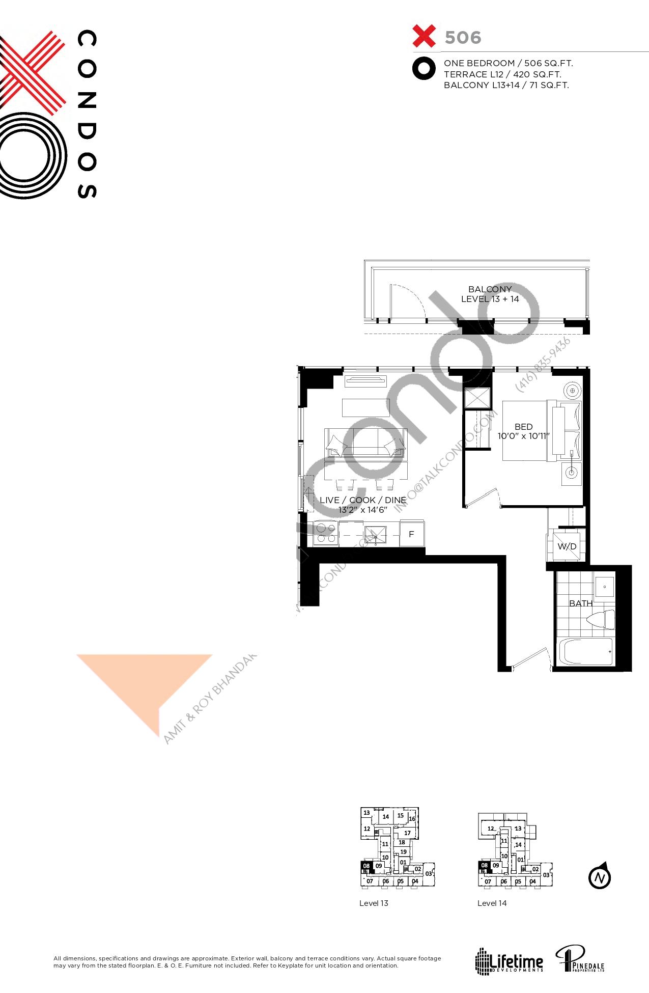 X506 Floor Plan at XO Condos - 506 sq.ft