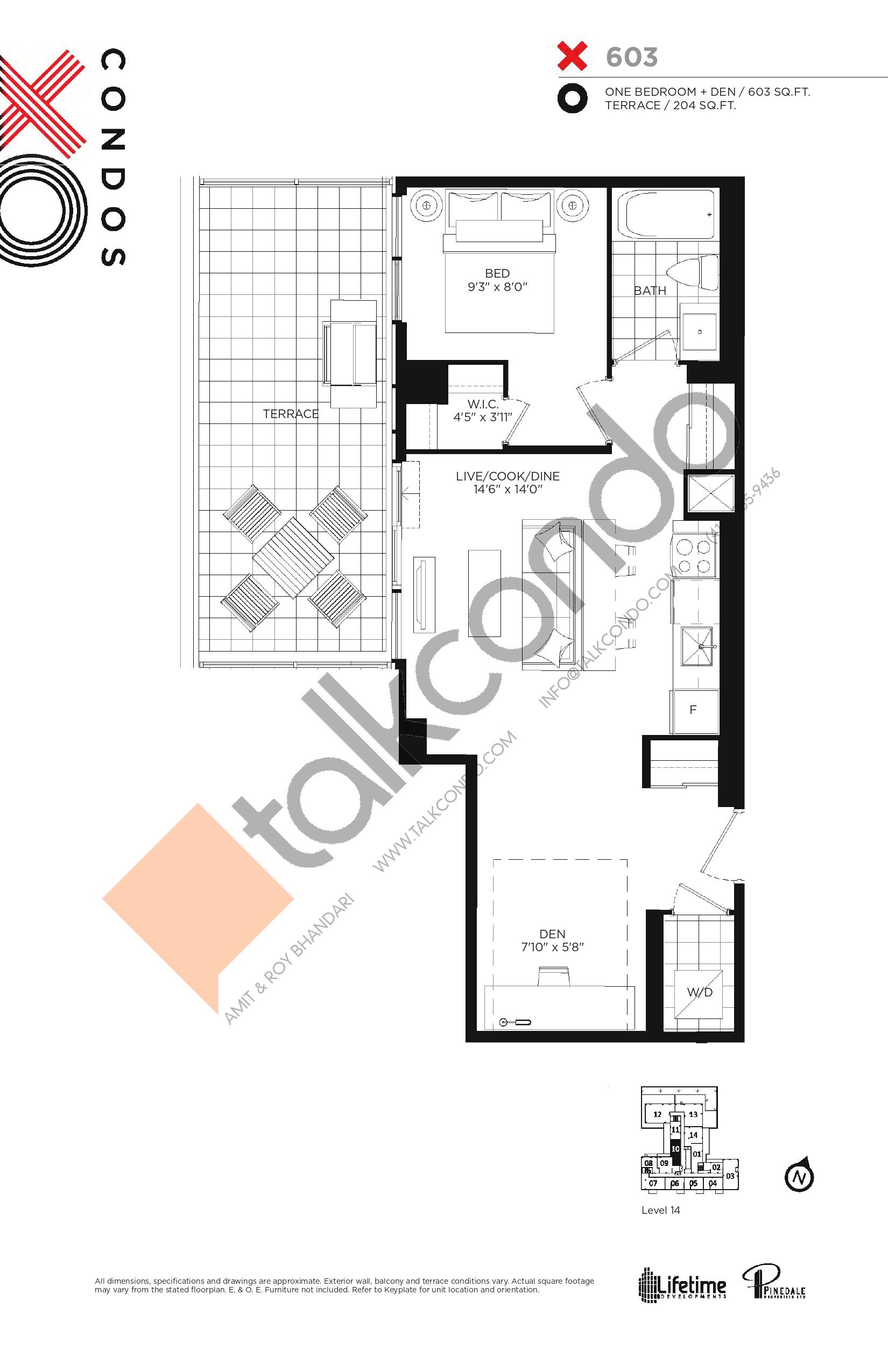 X603 Floor Plan at XO Condos - 603 sq.ft