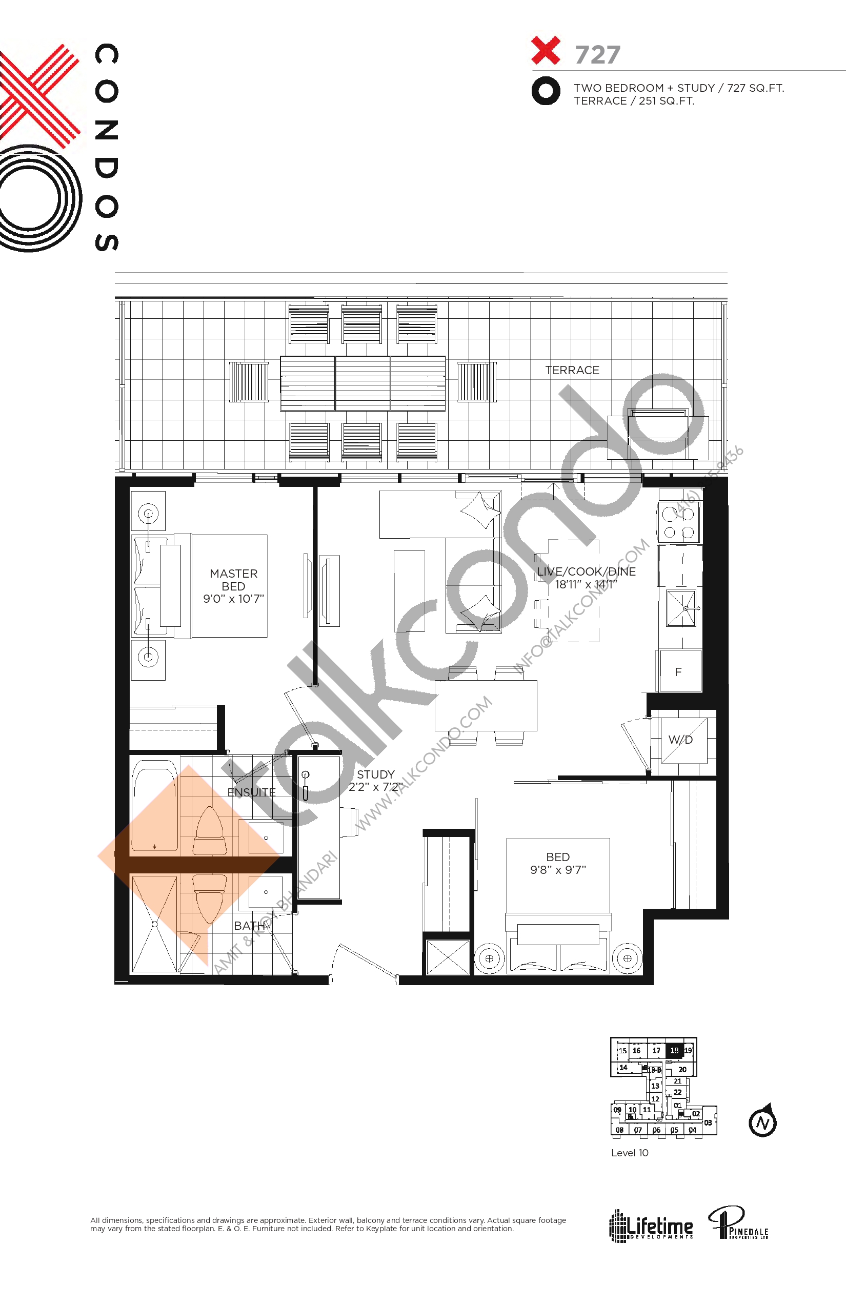 X727 Floor Plan at XO Condos - 727 sq.ft