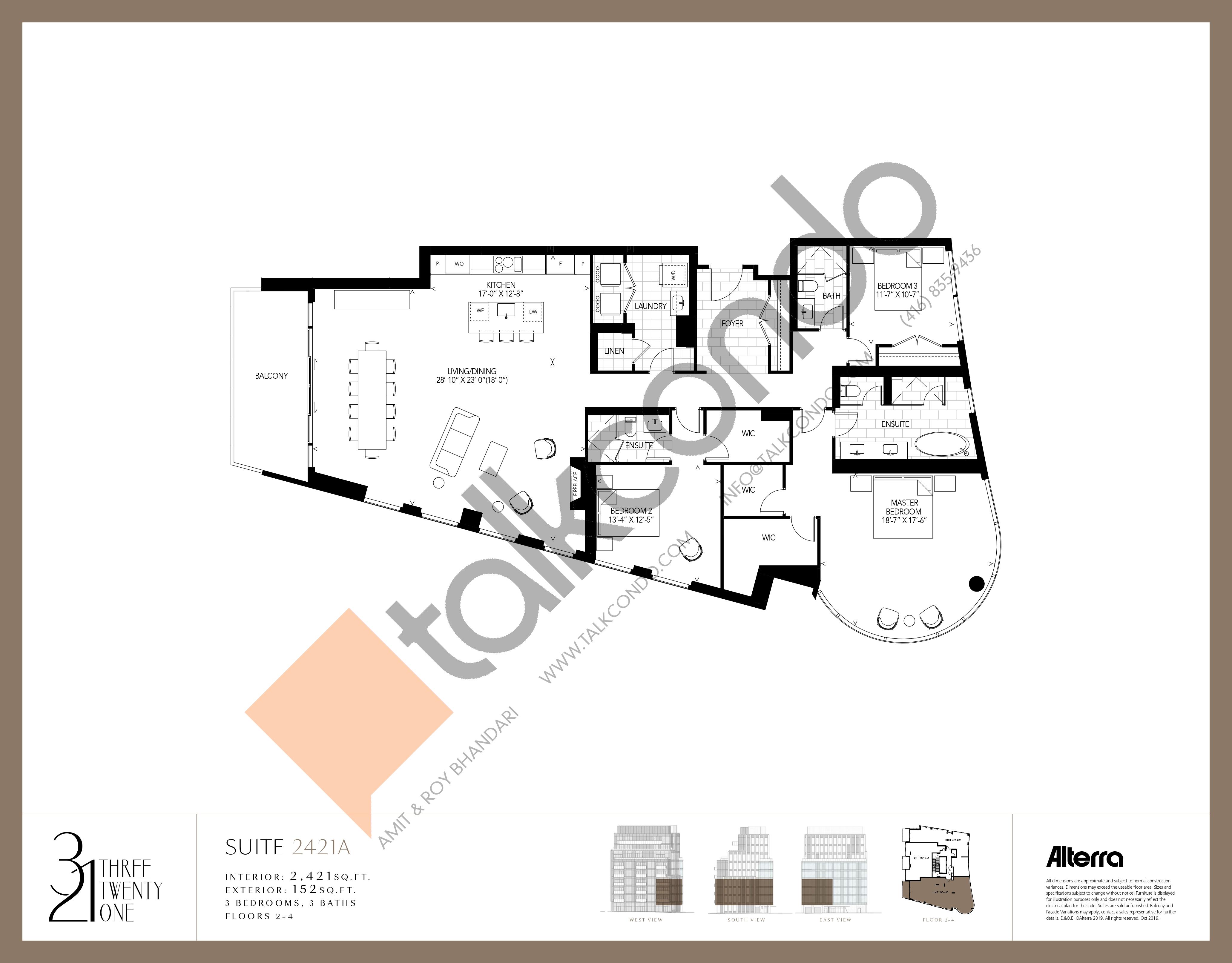 2421A Floor Plan at 321 Davenport Condos - 2421 sq.ft