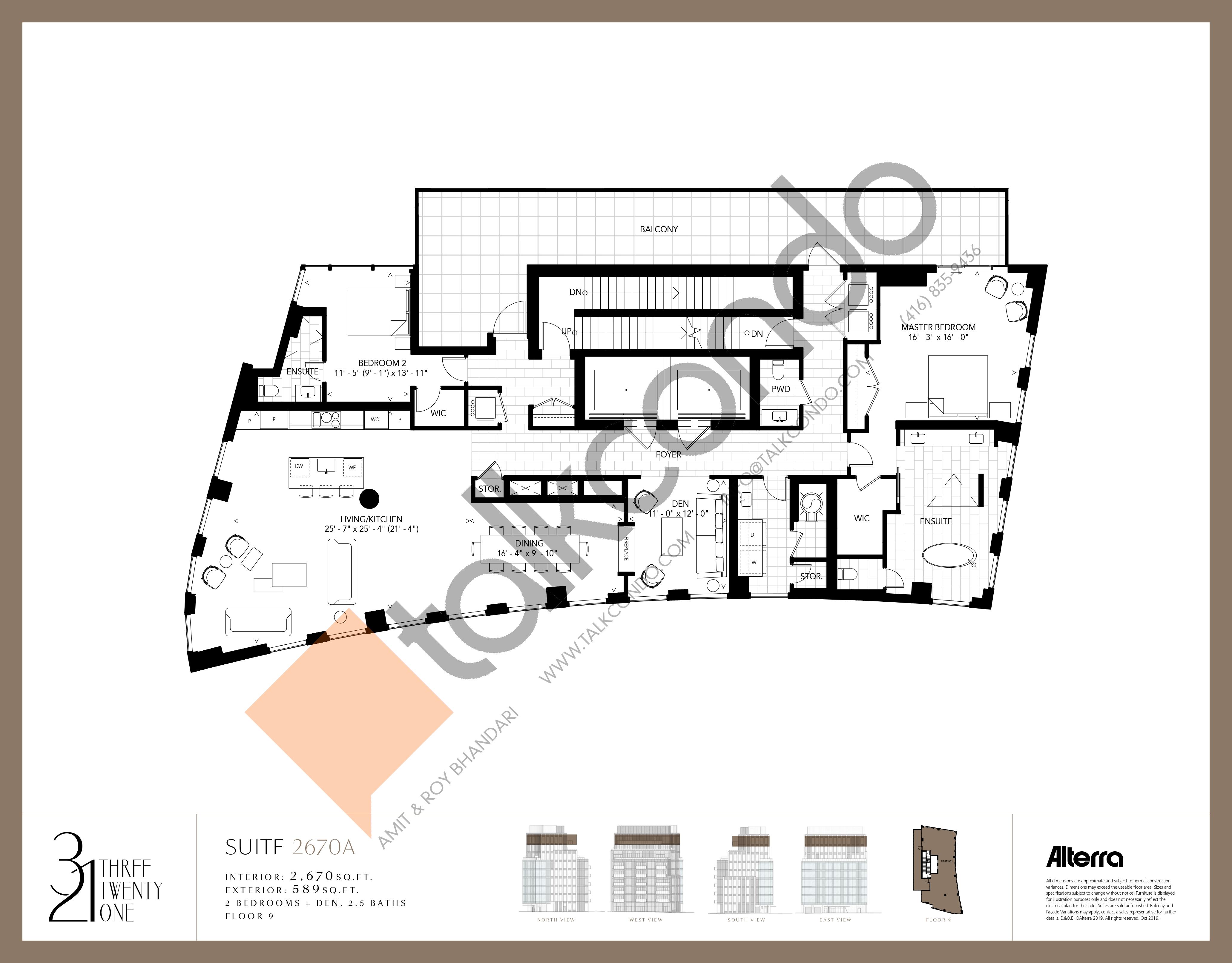 2670A Floor Plan at 321 Davenport Condos - 2670 sq.ft