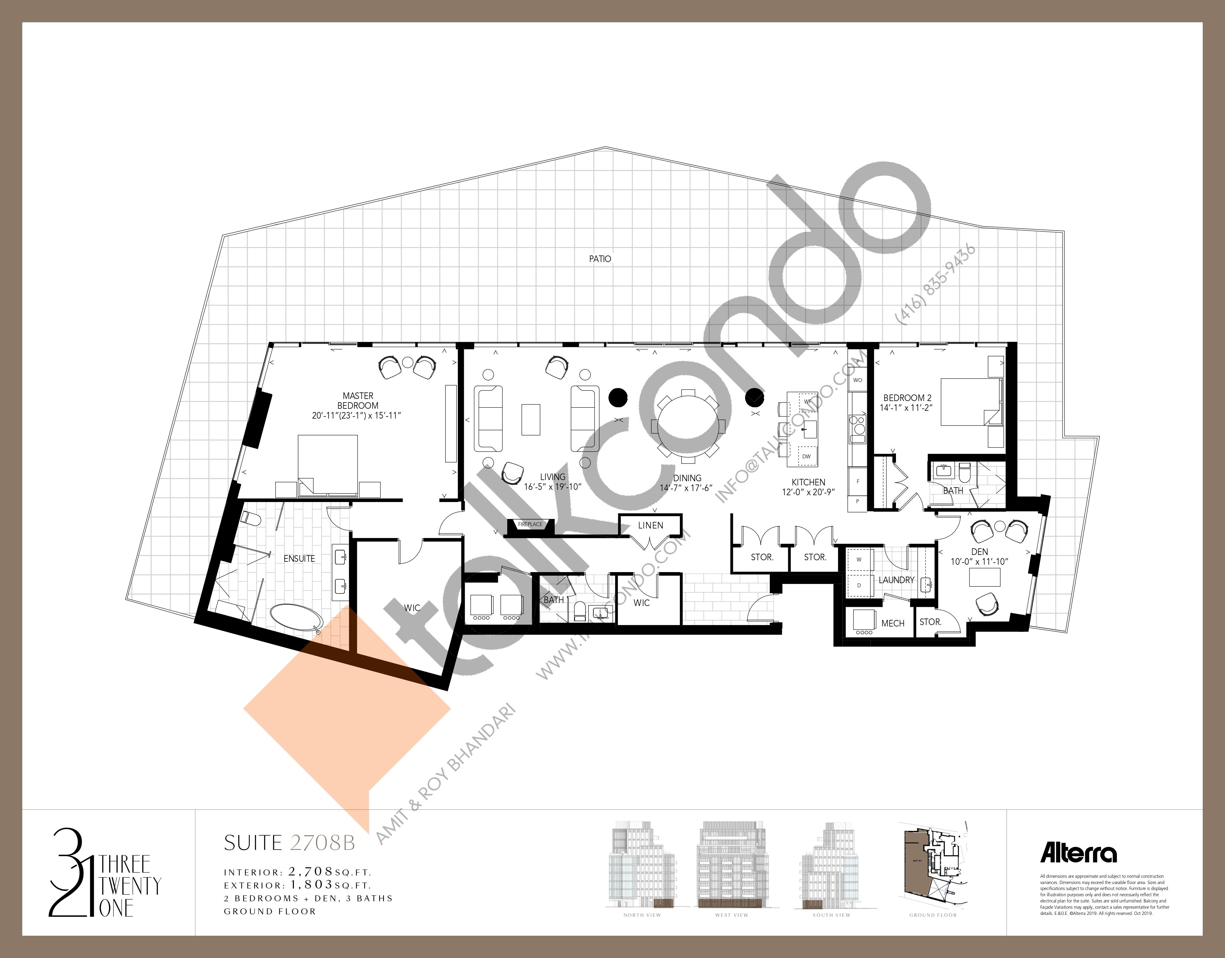 2708B Floor Plan at 321 Davenport Condos - 2708 sq.ft