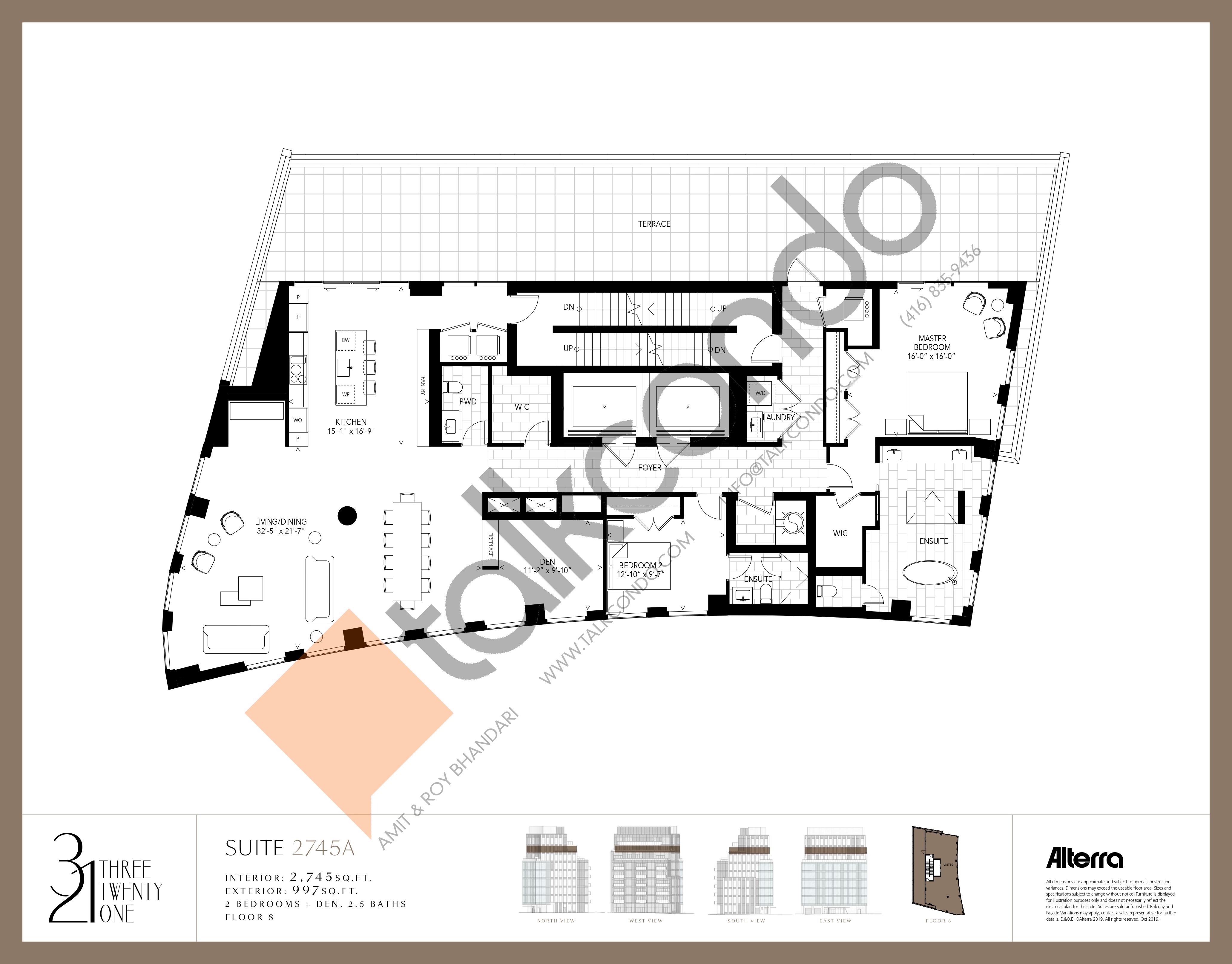 2745A Floor Plan at 321 Davenport Condos - 2745 sq.ft