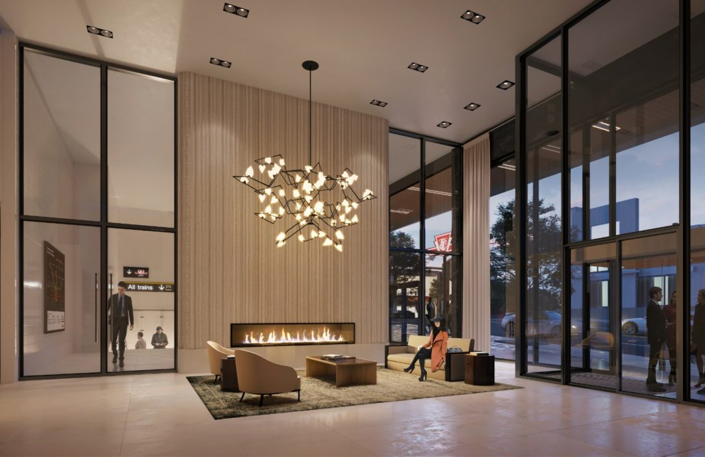 The Forest Hill Condos Lobby