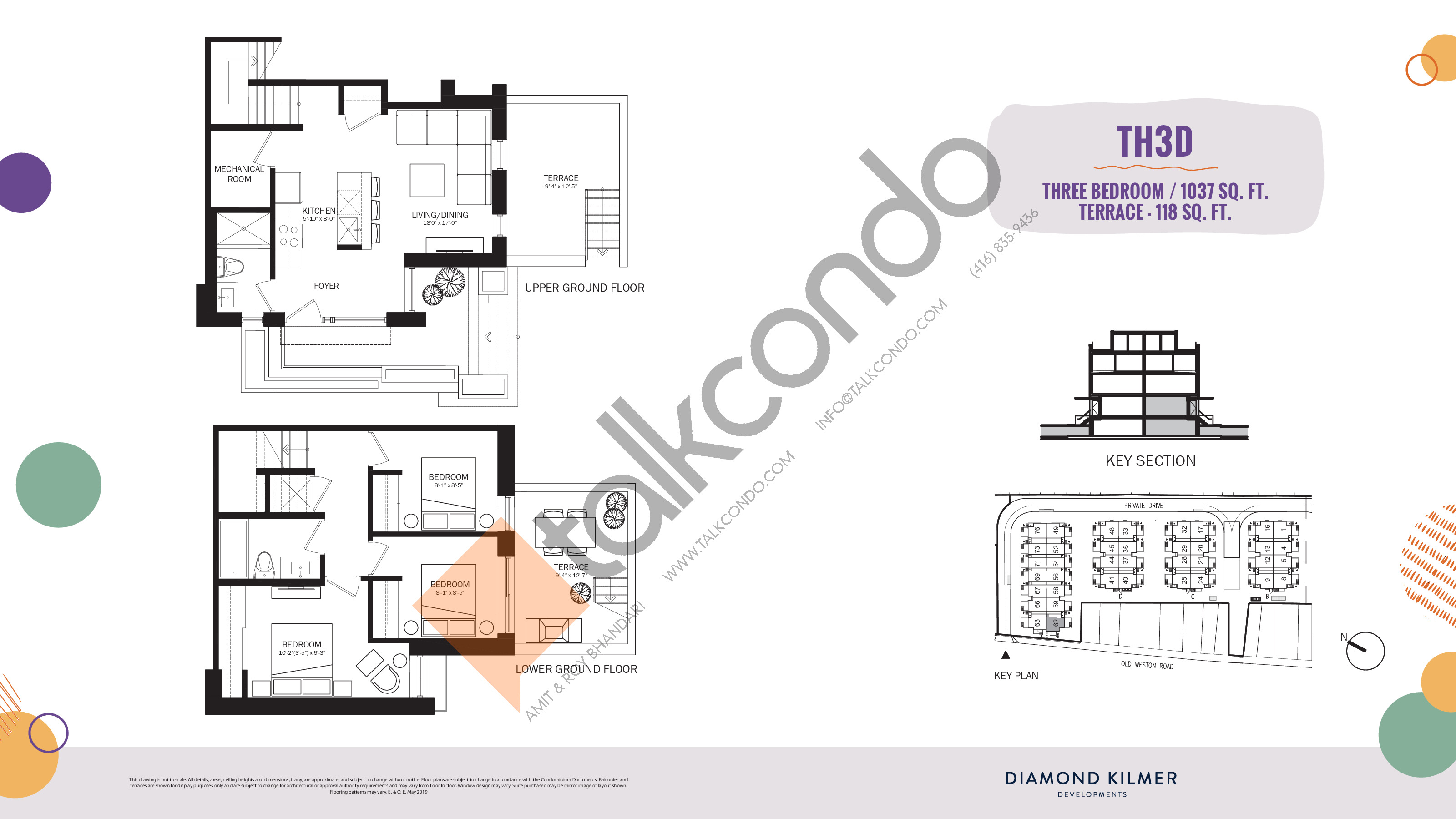 TH3D Floor Plan at Reunion Crossing Condos & Urban Towns - 1037 sq.ft