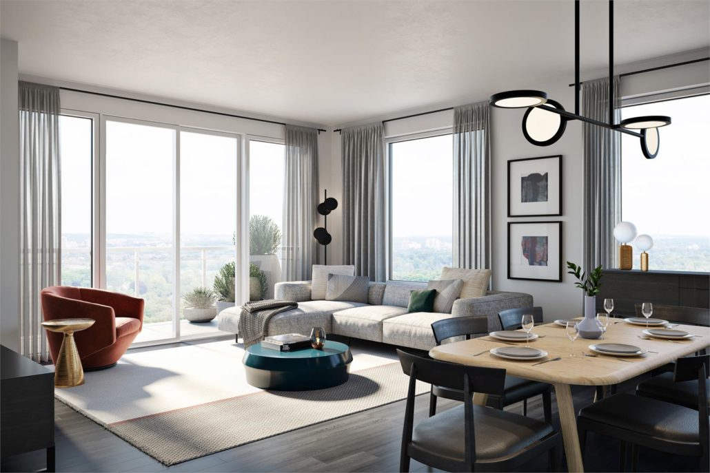 Upper West Side Condos at Oakvillage Suite Living Room