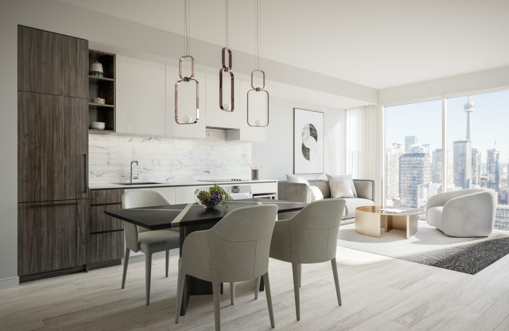 interior suite design for 55 mercer condos