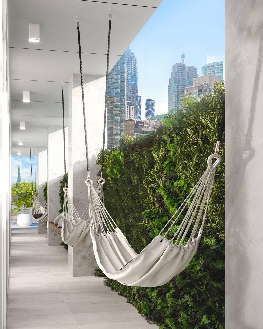 88 Queen Condos - Phase 2 Relax Amongst Living Walls and Floating Hammocks