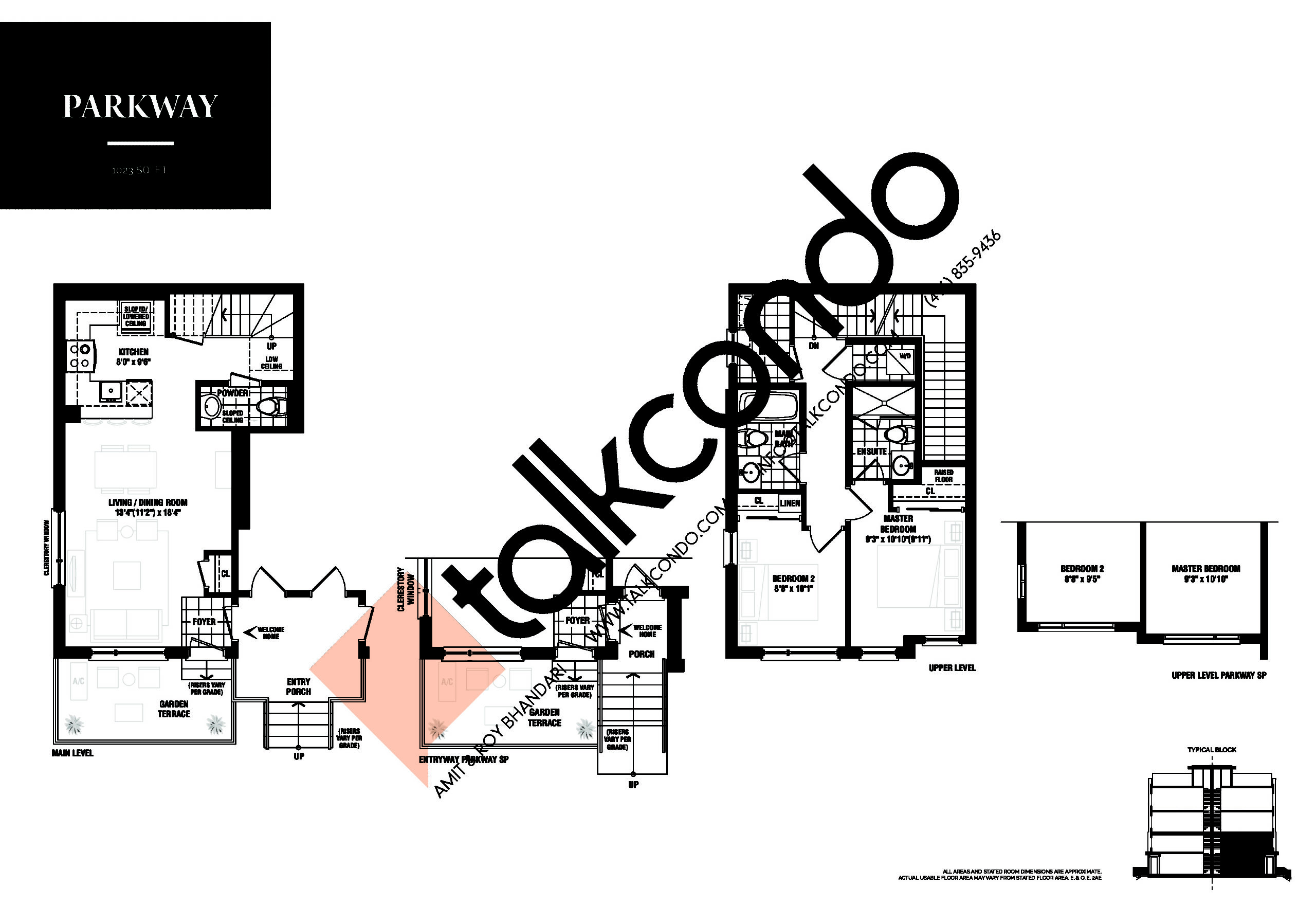 Parkway Floor Plan at The Way Urban Towns Phase 2 - 1023 sq.ft