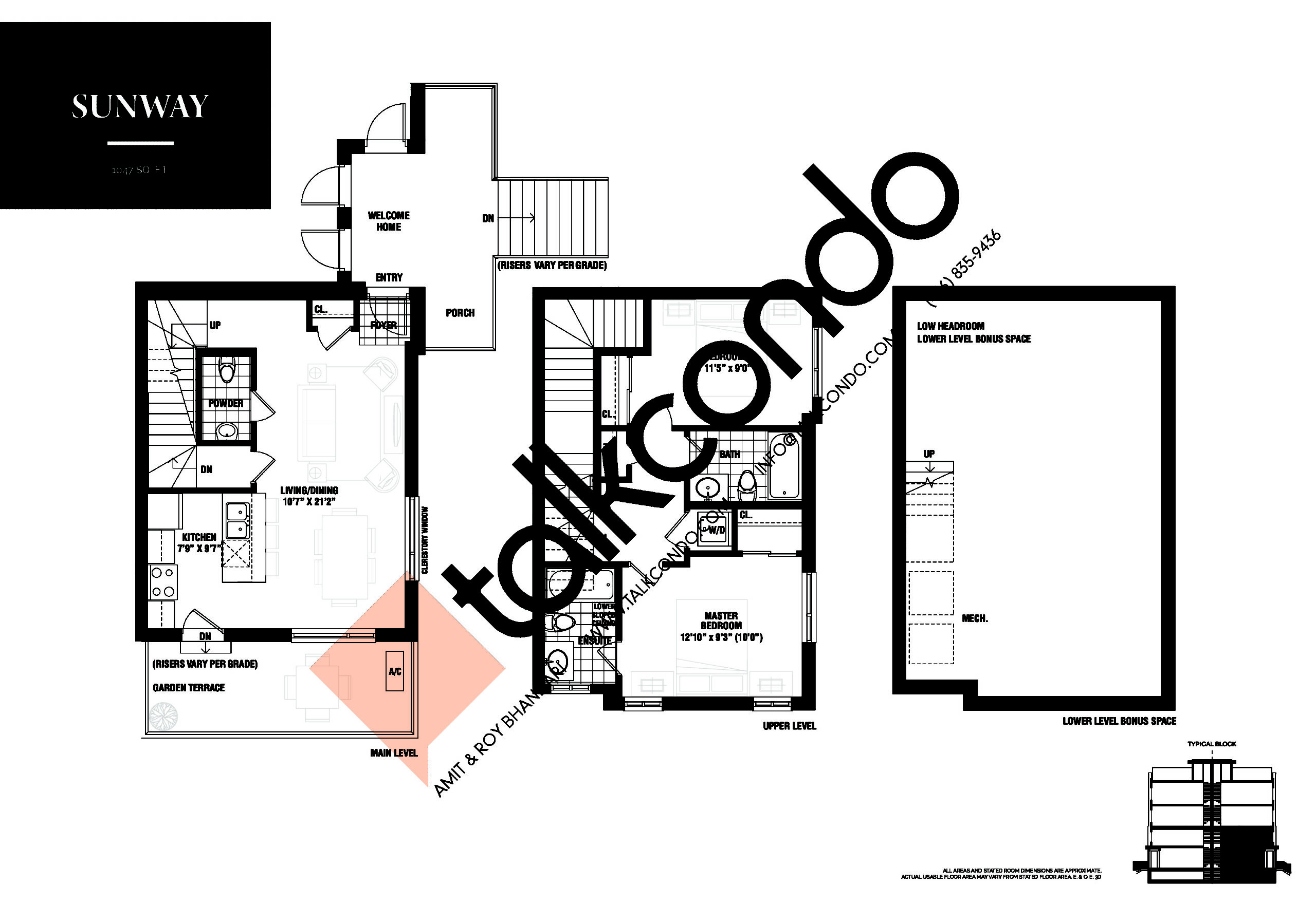 Sunway Floor Plan at The Way Urban Towns Phase 2 - 1047 sq.ft