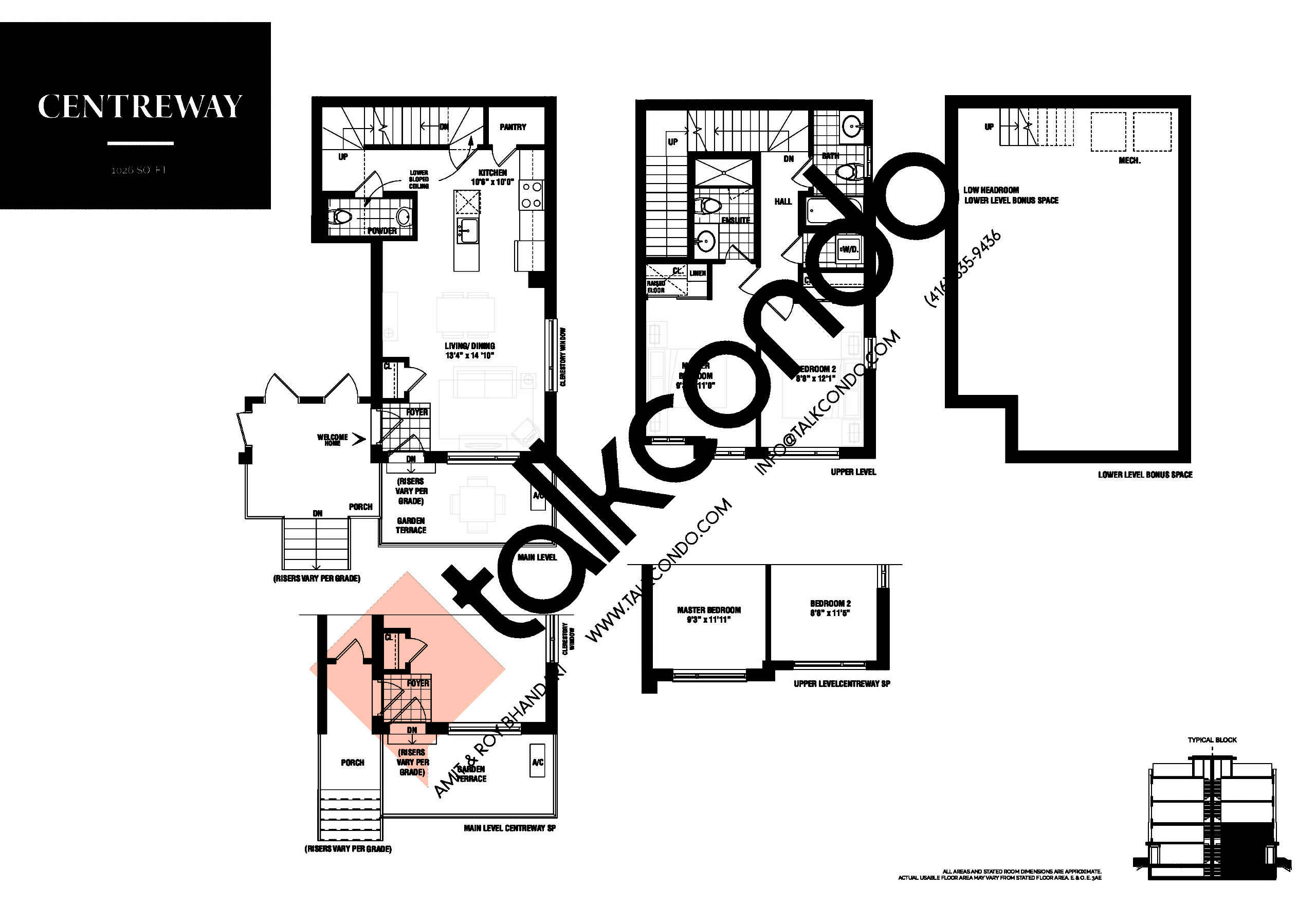 Centreway Floor Plan at The Way Urban Towns Phase 2 - 1026 sq.ft