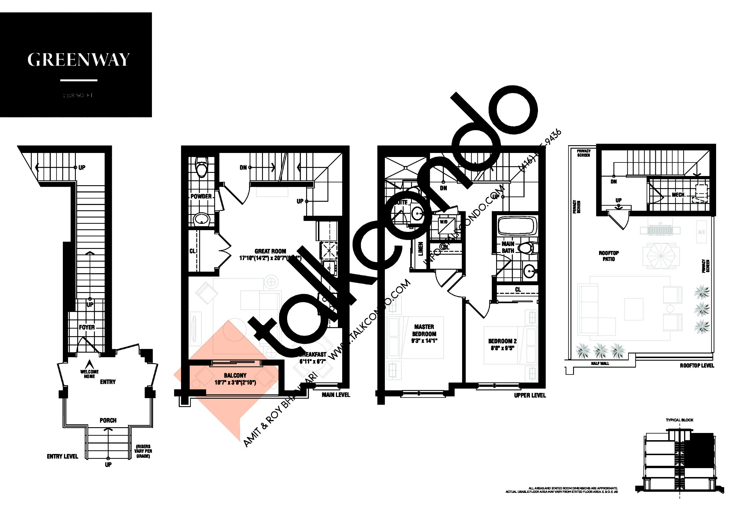 Greenway Floor Plan at The Way Urban Towns Phase 2 - 1318 sq.ft