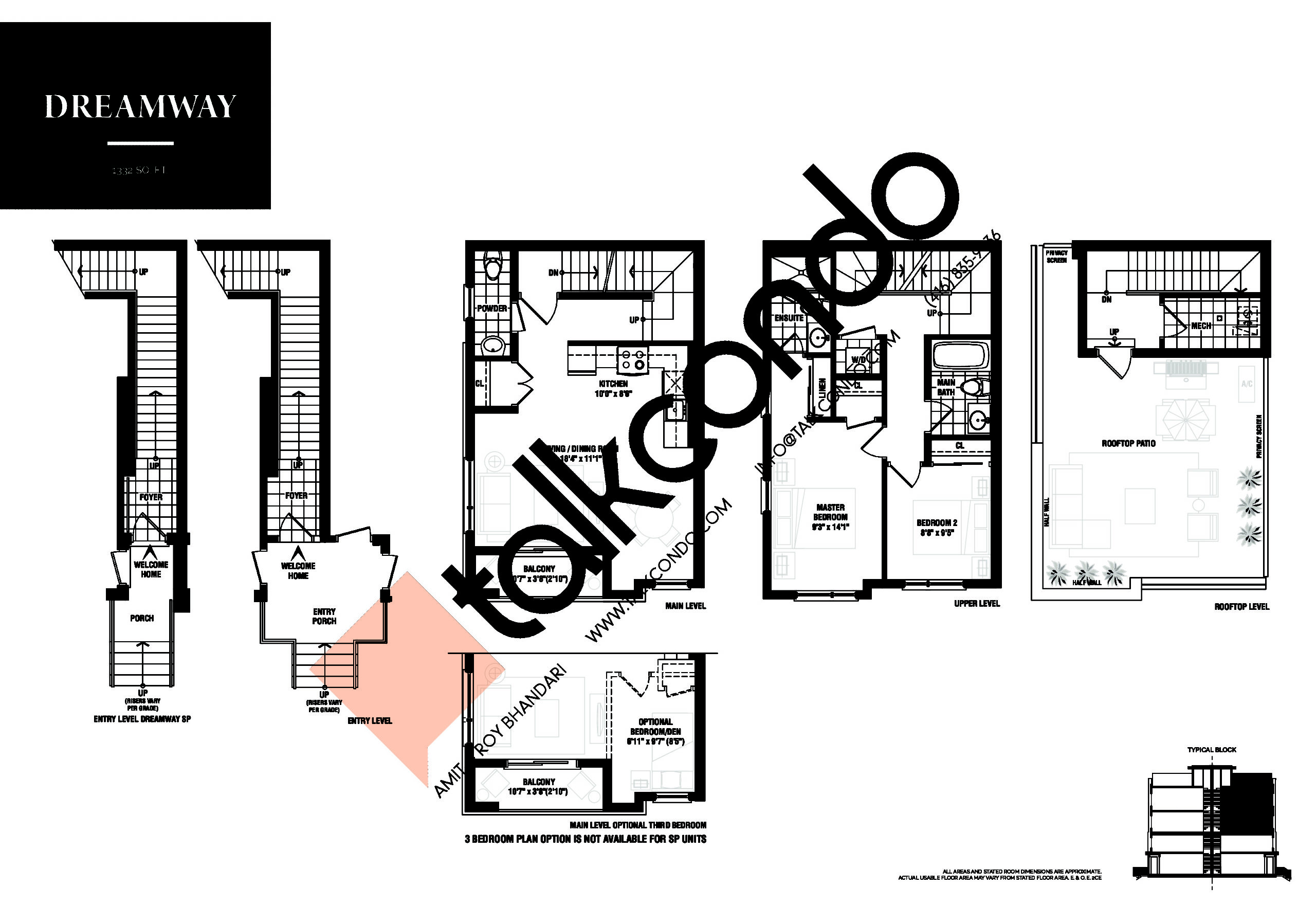 Dreamway Floor Plan at The Way Urban Towns Phase 2 - 1332 sq.ft