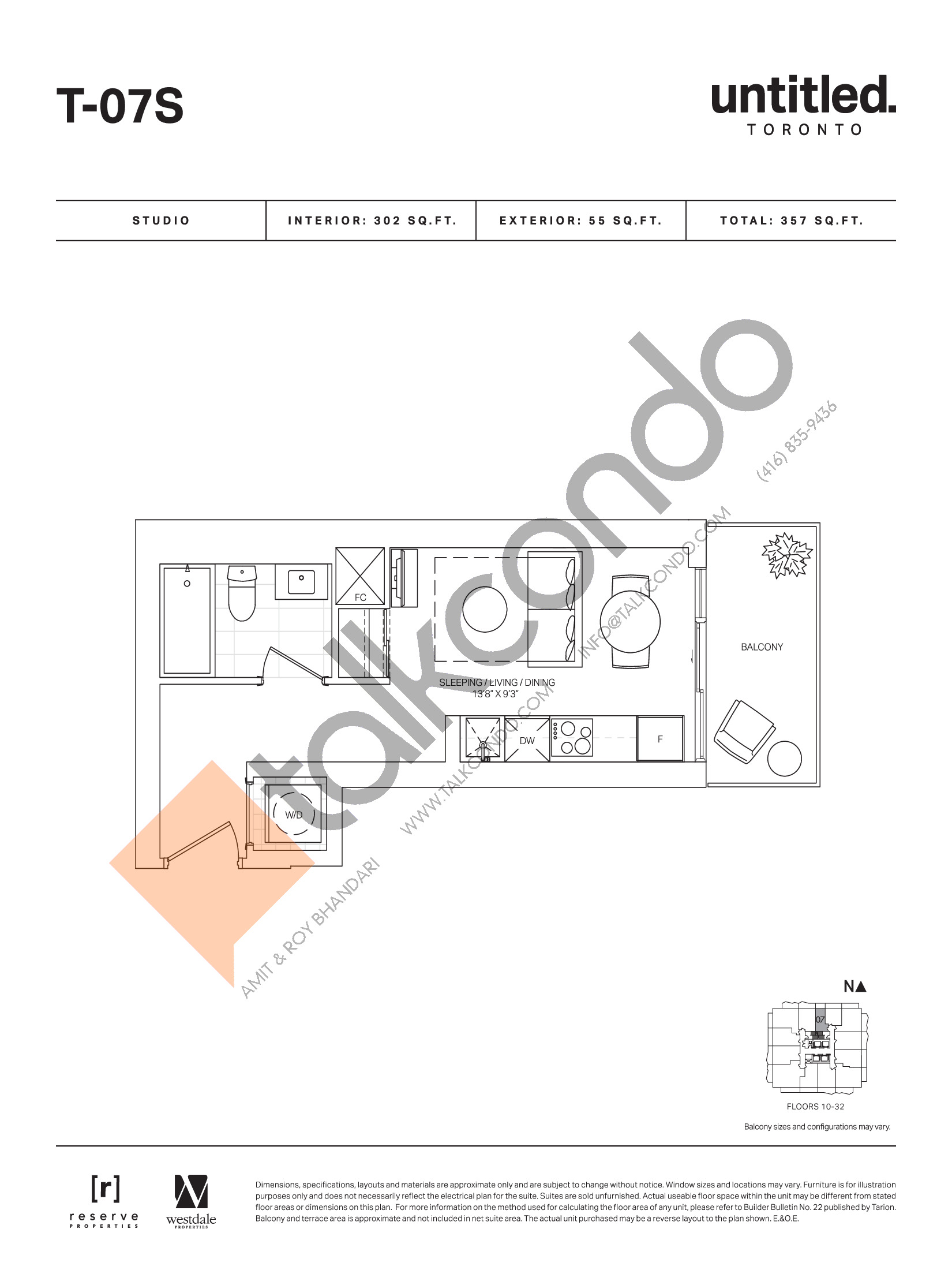 T-07S Floor Plan at Untitled Toronto Condos - 302 sq.ft
