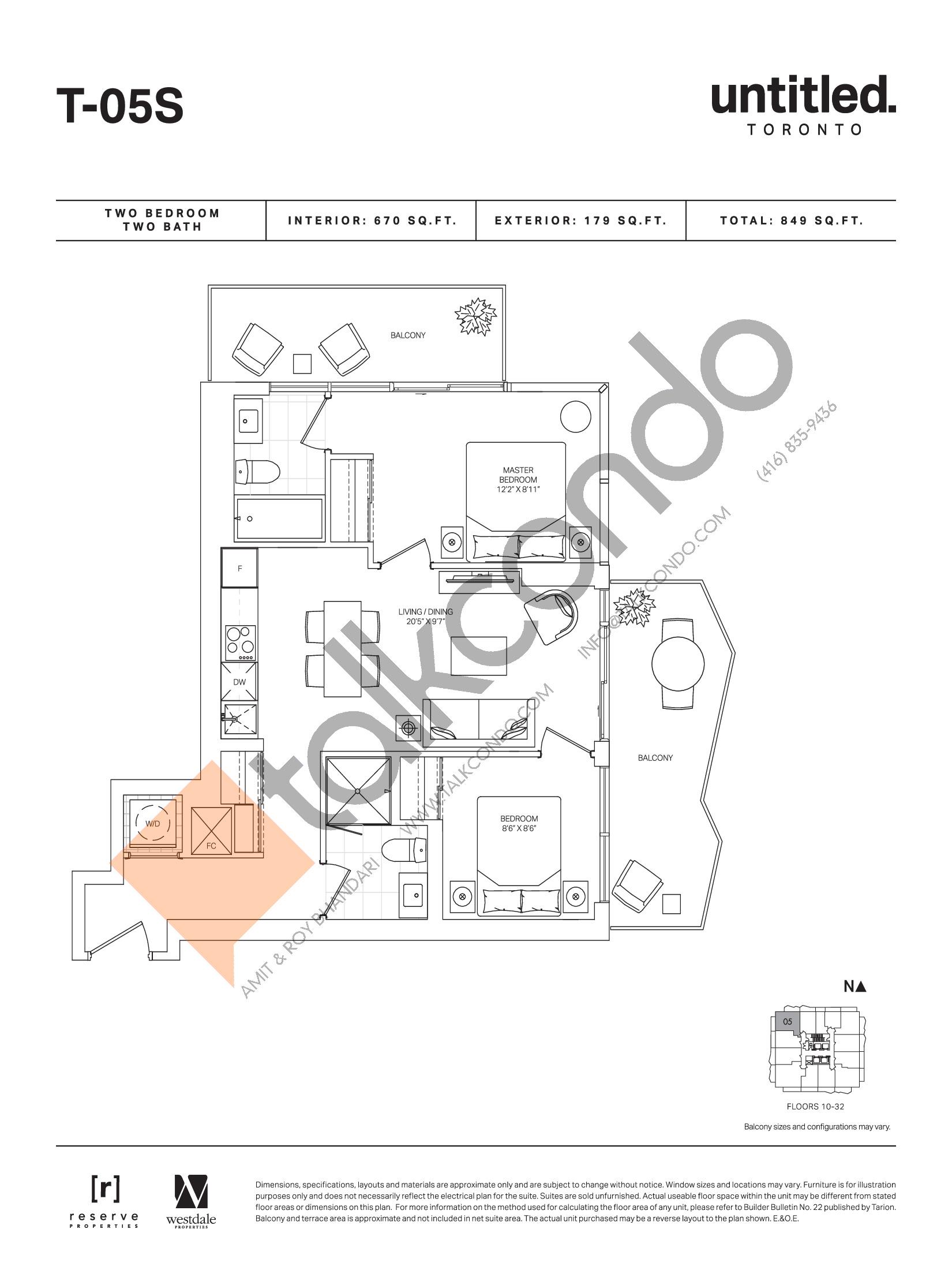 T-05S Floor Plan at Untitled Toronto Condos - 670 sq.ft