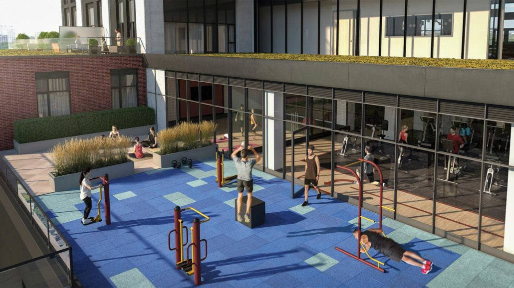Artsy Condos Outdoor Crossfit and Yoga