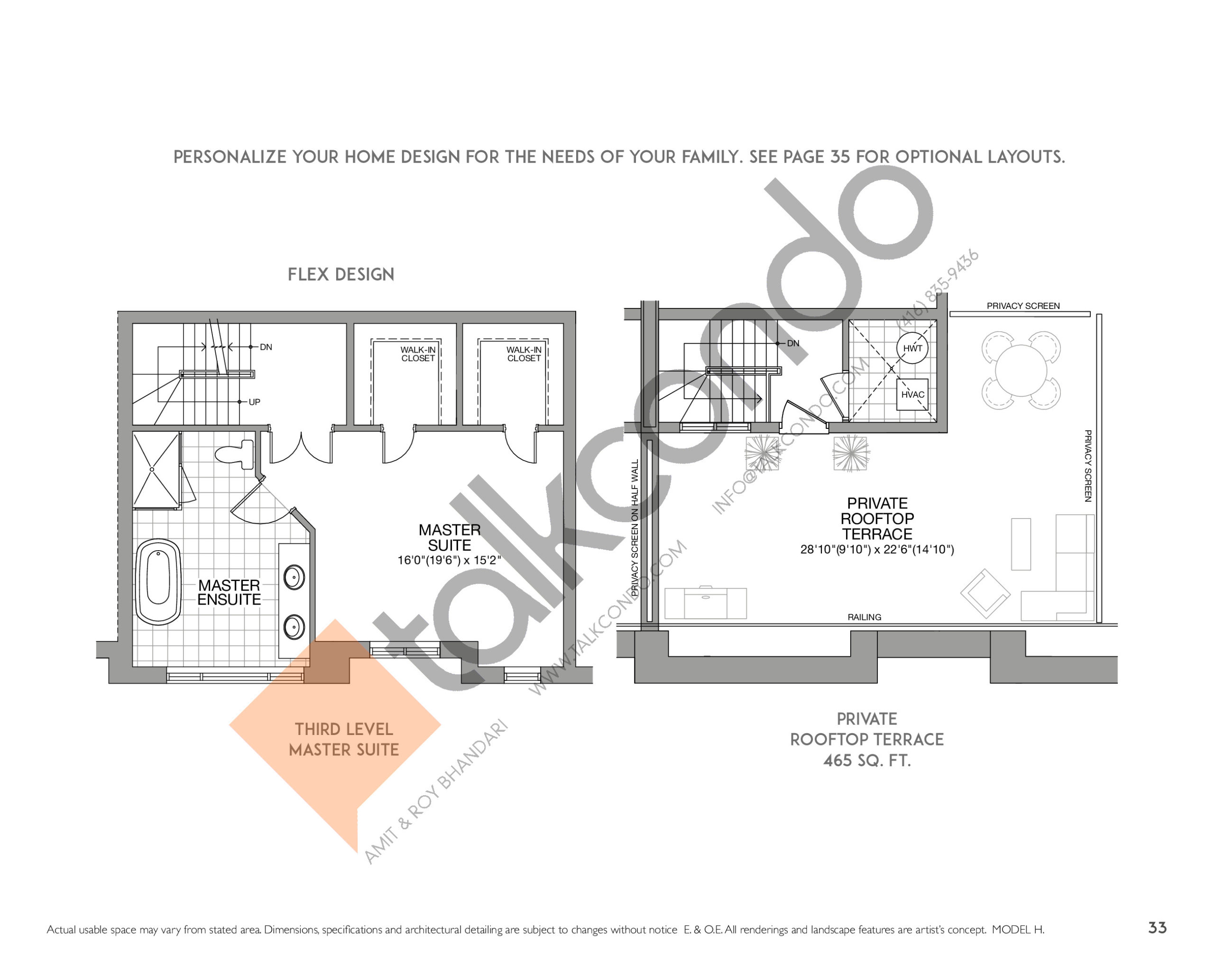 The Kensington (2/2) Floor Plan at Eleven Altamont Towns - 2497 sq.ft