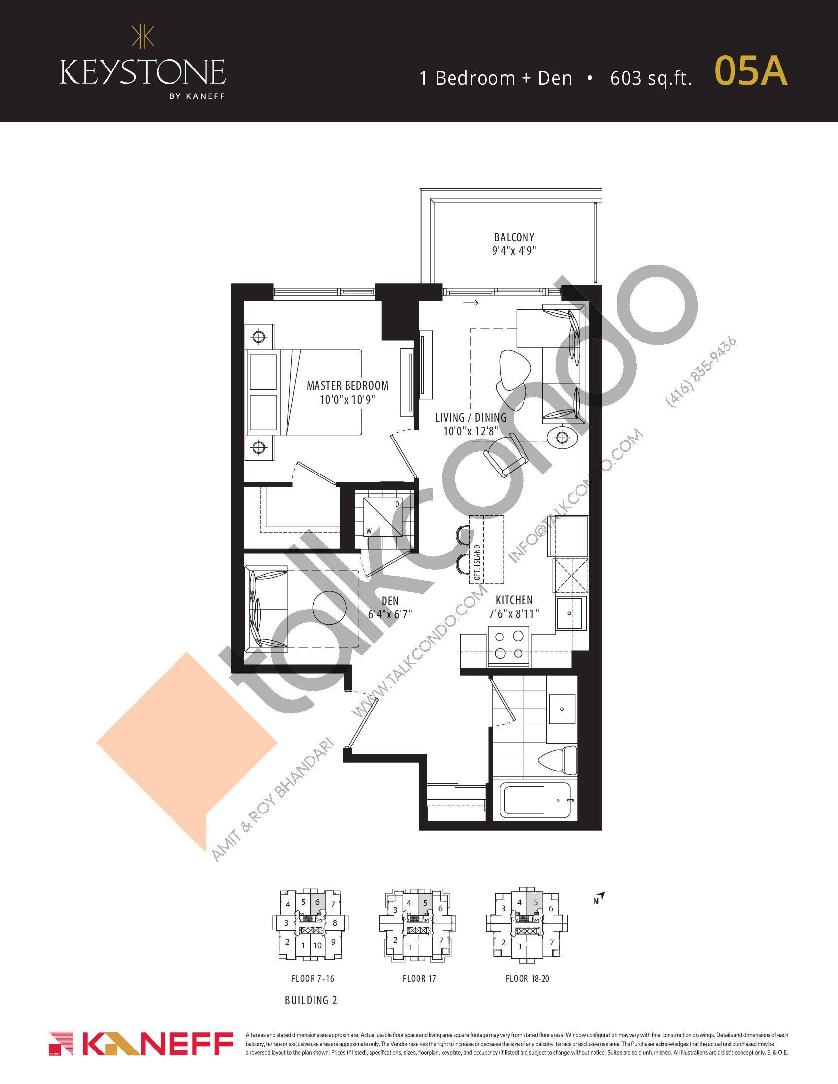 05A Floor Plan at Keystone Condos Phase 2 - 603 sq.ft