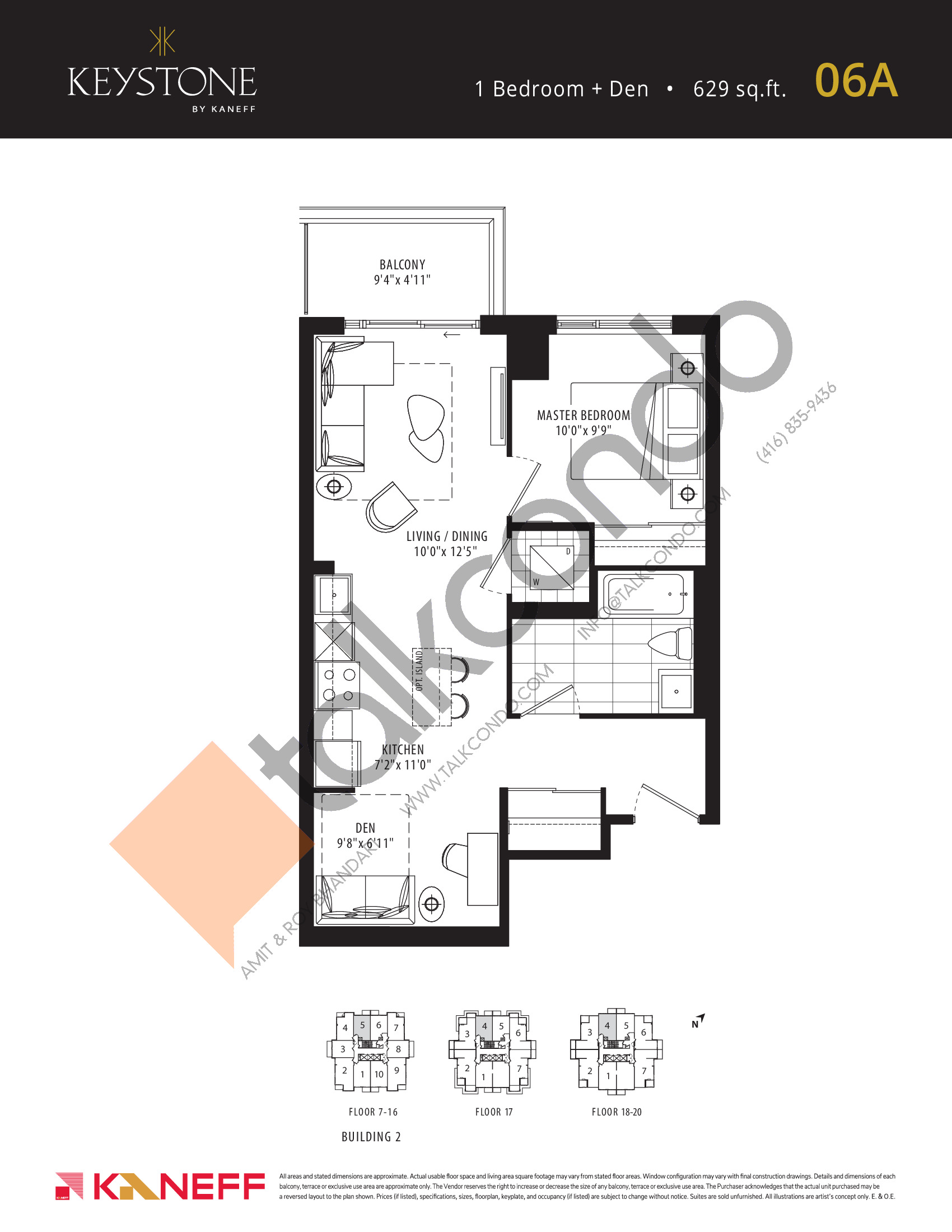 06A Floor Plan at Keystone Condos Phase 2 - 629 sq.ft