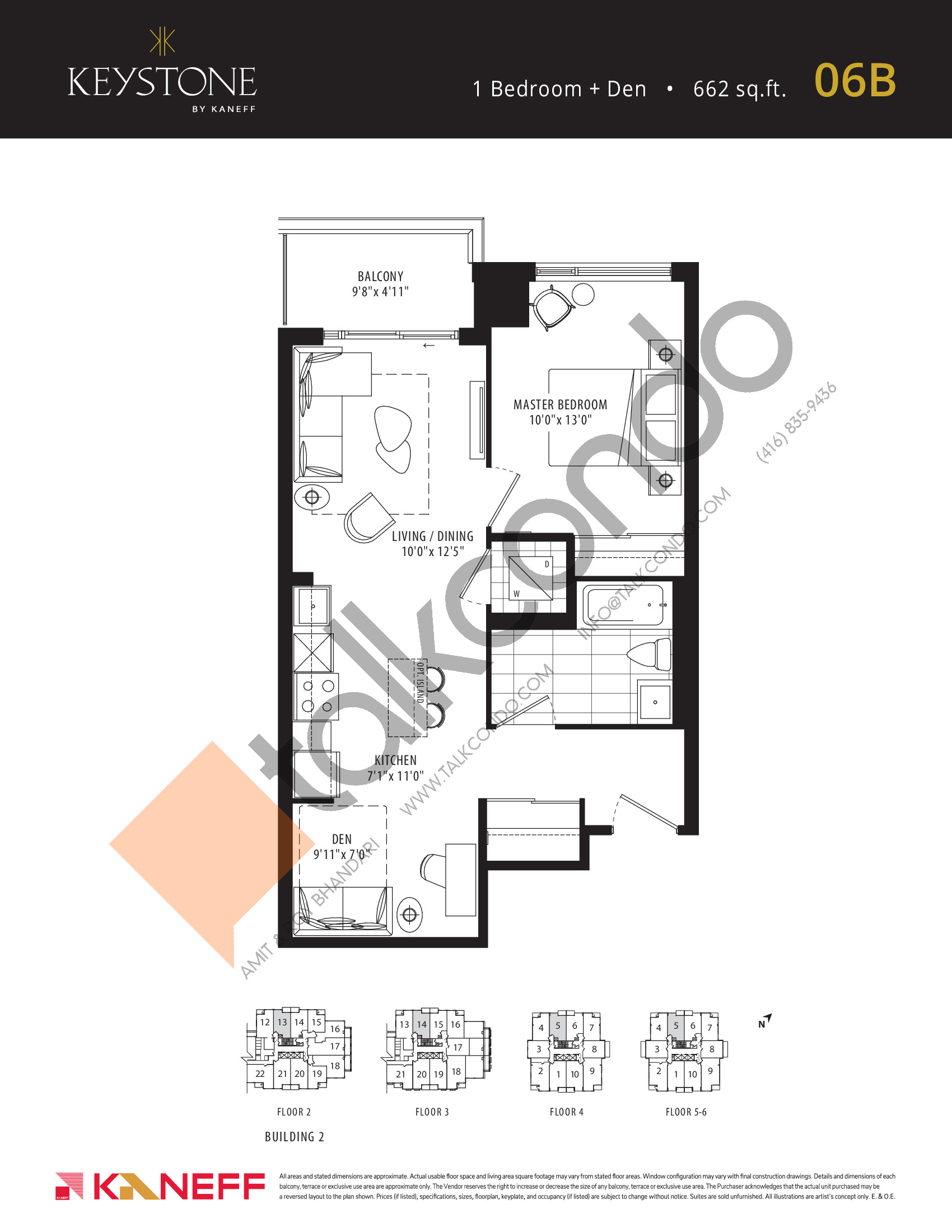 06B Floor Plan at Keystone Condos Phase 2 - 662 sq.ft